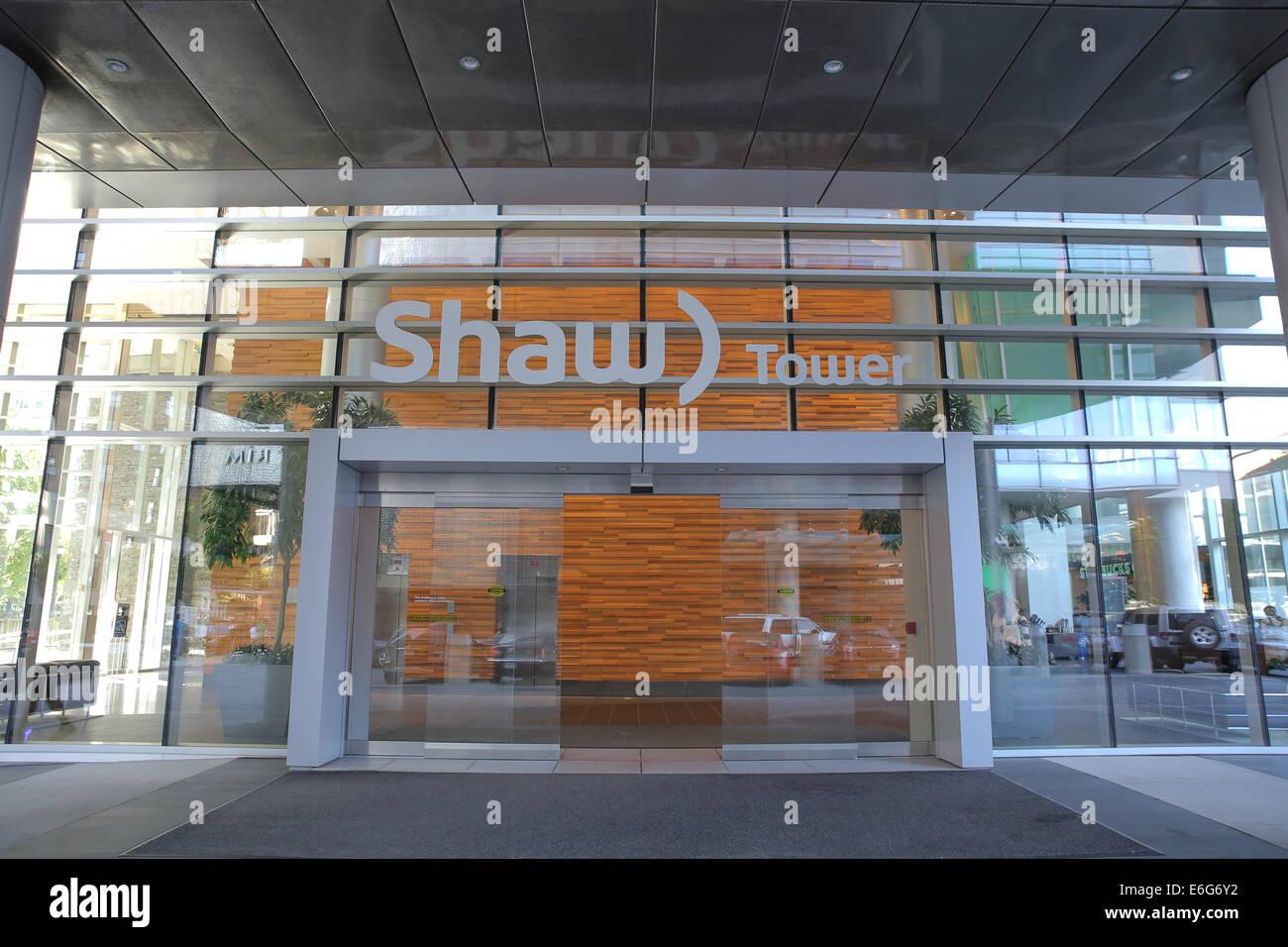 Vancouver-Shaw Tower Büroeingang Stockbild
