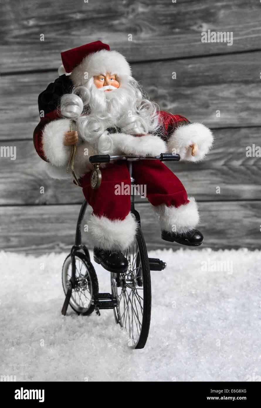 Weihnachtsdeko Roller.Großer Santa Weihnachtsmann Auf Motor Roller Nikolaus Dekofigur