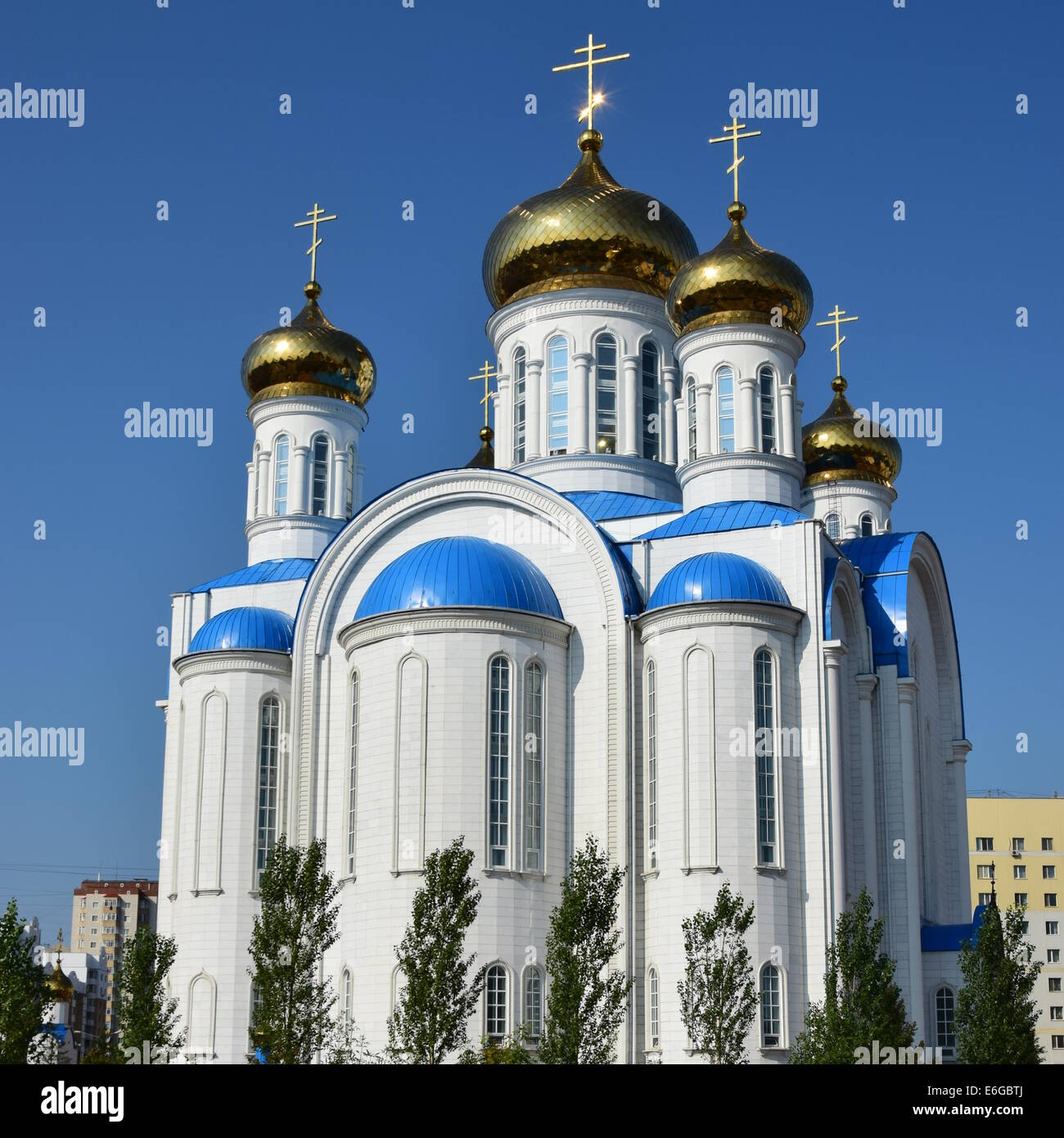 russian orthodox church kazakhstan stockfotos russian. Black Bedroom Furniture Sets. Home Design Ideas