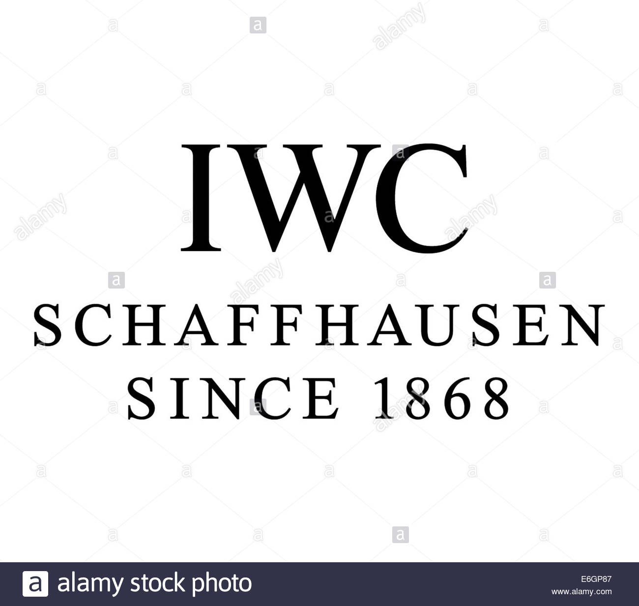 International Watch Company IWC Logo Symbol isolierte Fahne Stockbild