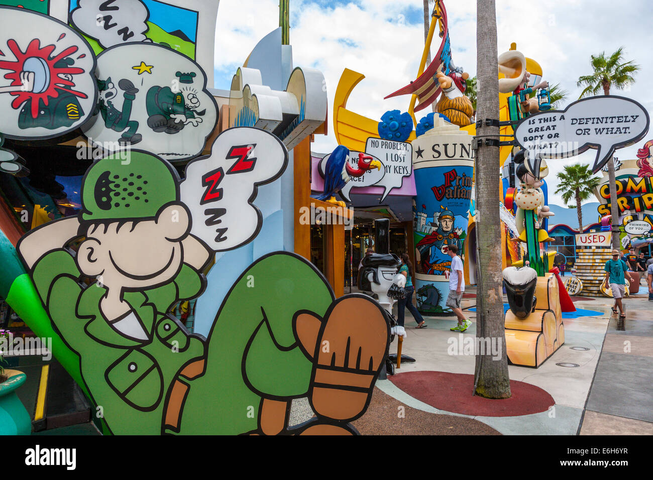 Beetle Bailey Shop in Toon Lagune bei Universal Studios Islands of Adventure in Orlando, Florida Stockbild