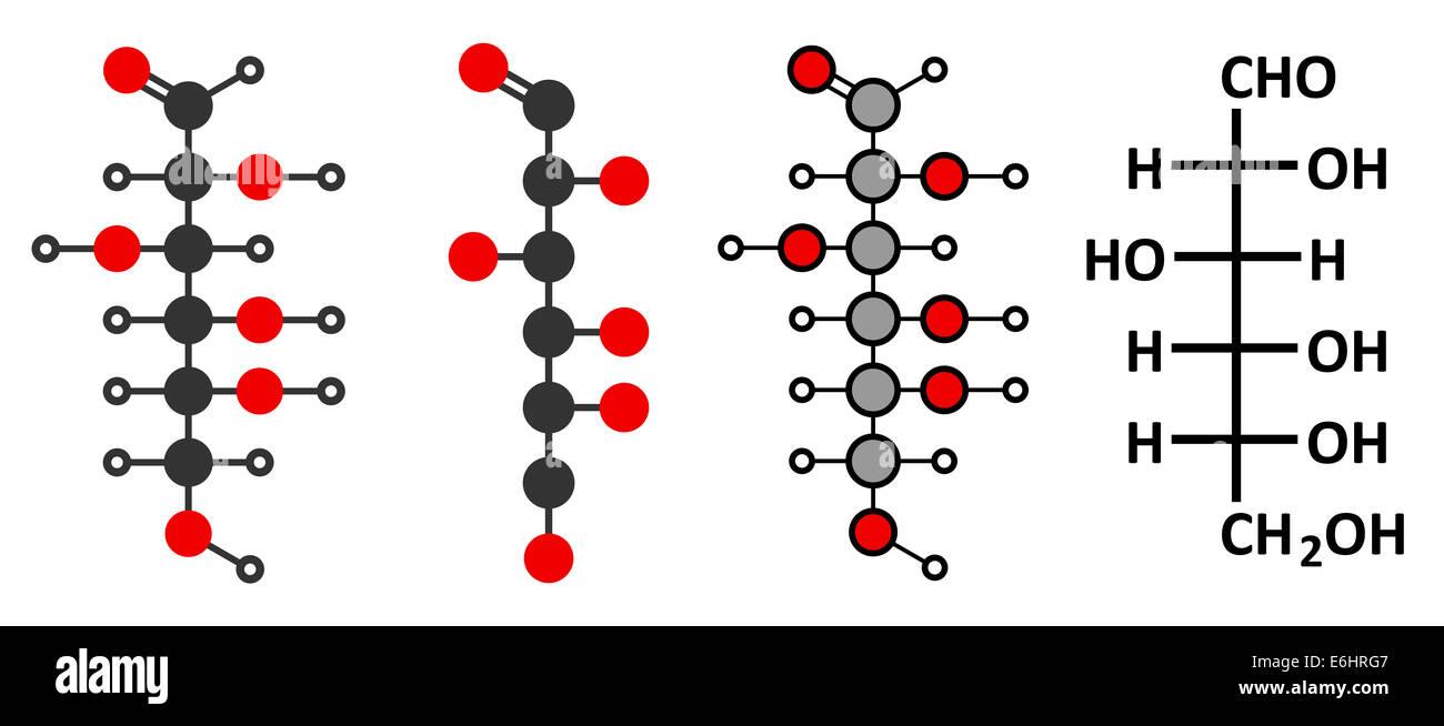 Traubenzucker Molekül Glucose D Glukose Traubenzucker