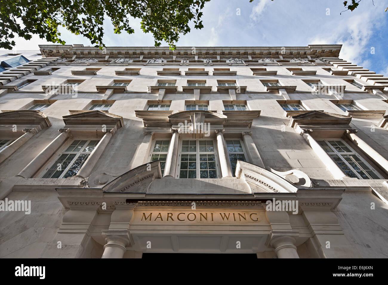 Marconi Haus - eine Wohnsiedlung in den Strang, London Stockbild