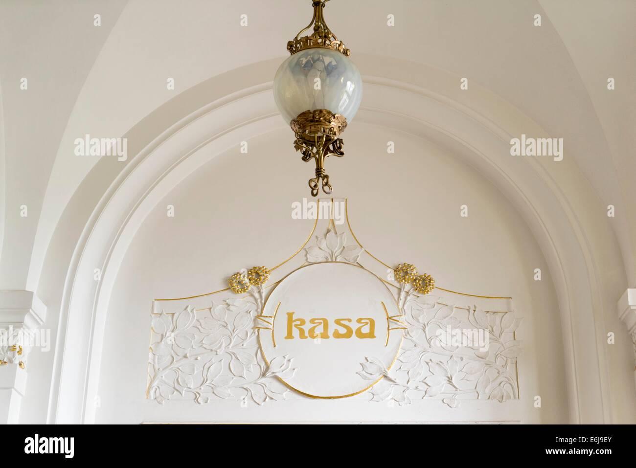 Museum der Westböhmischen: Art Nouveau Interieur Stockbild