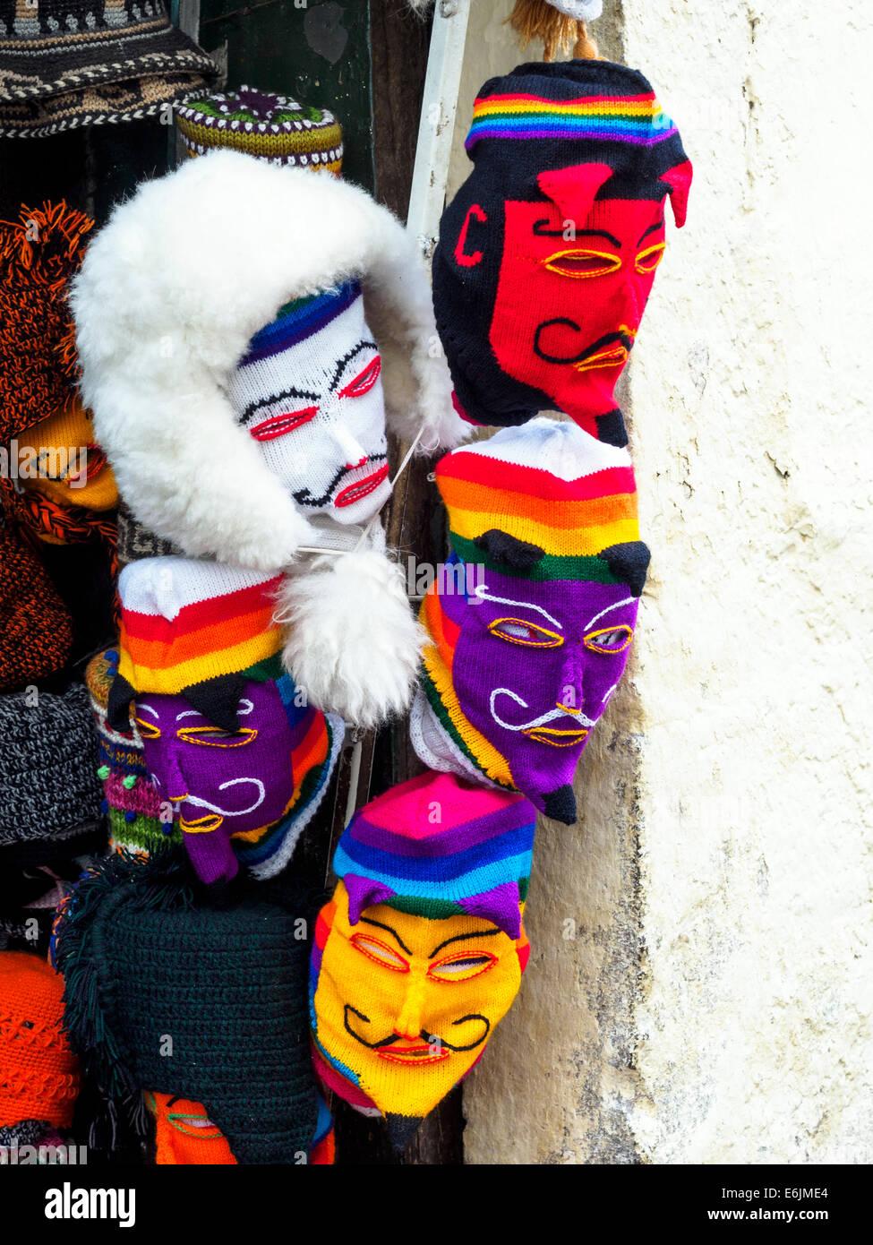 Traditionelle Folklore Maske - Cusco, Peru Stockbild