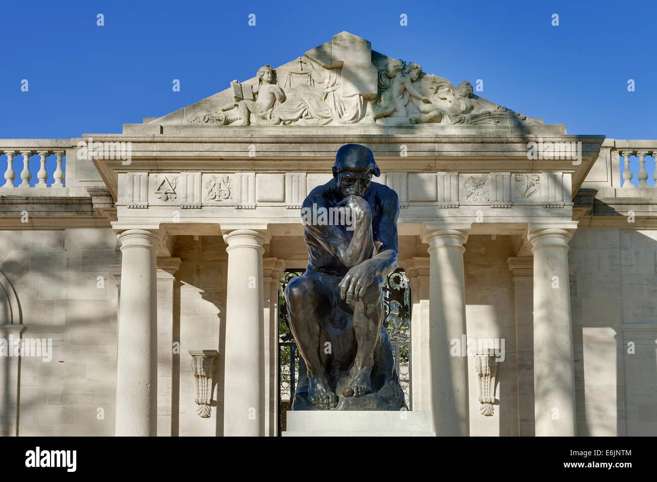Die Denker Skulptur an das Rodin-Museum, Philadelphia, Pennsylvania, USA Stockbild