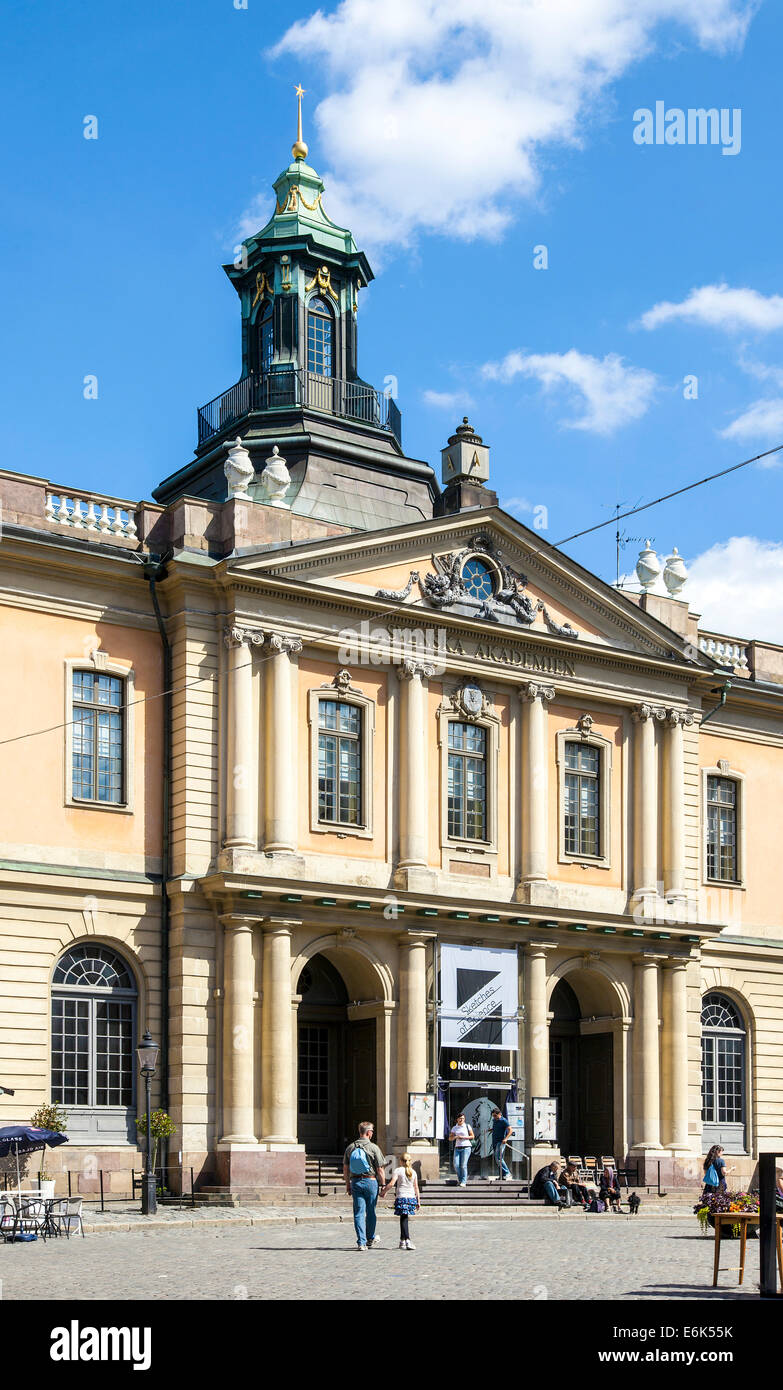 Schwedischen Akademie der Wissenschaften, Svenska Akademien, ehemalige Börsengebäude, Börshuset, Stockbild