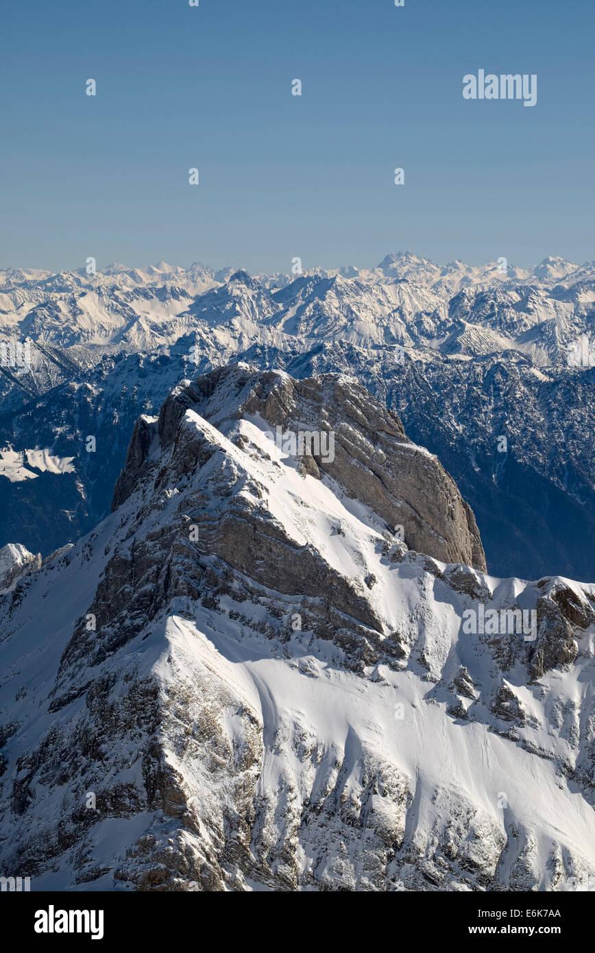 Mt Altmann, 2436 m, Appenzeller Alpen, Kanton Appenzell Ausserrhoden, Schweiz Stockbild