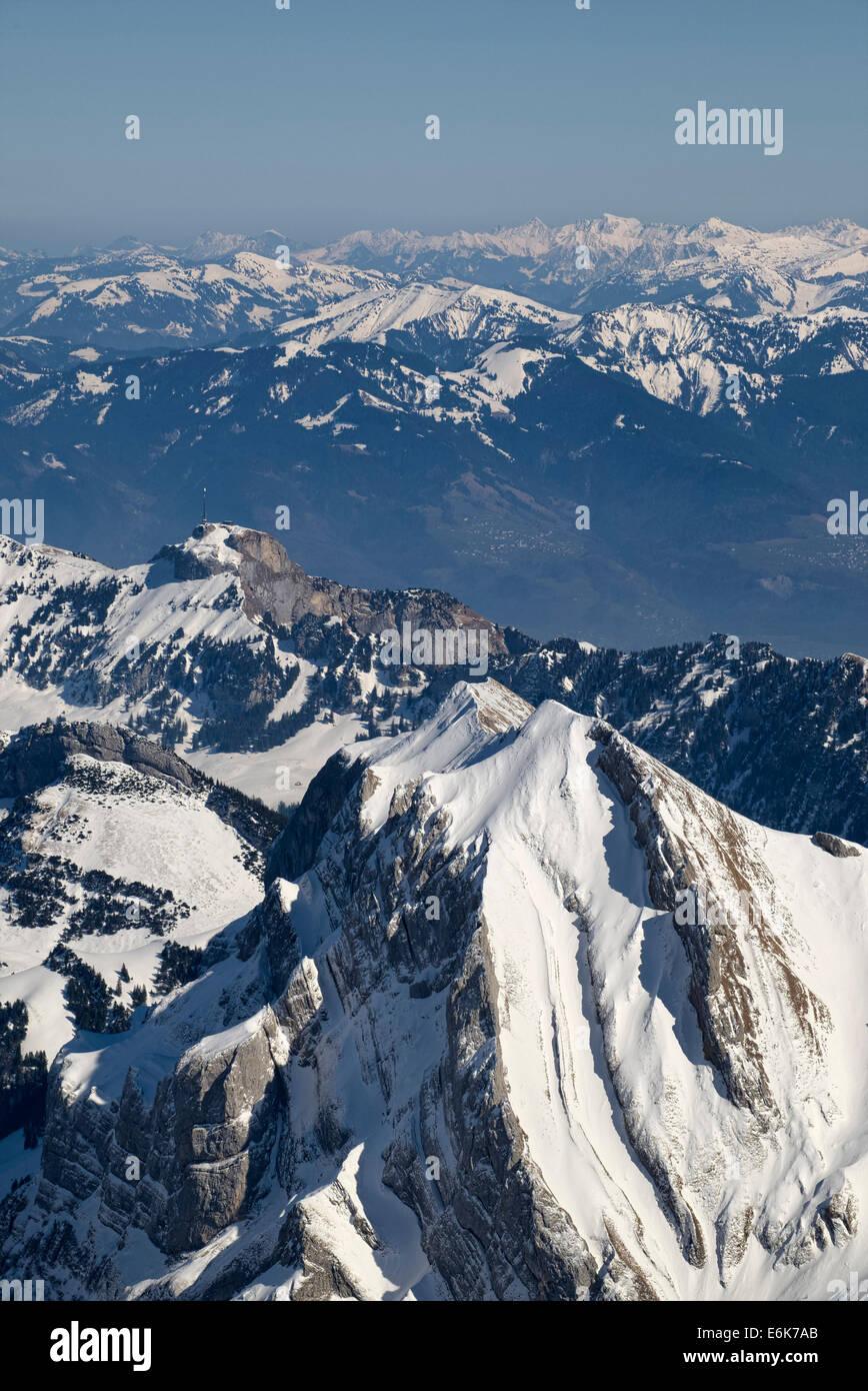 Appenzeller Alpen, Kanton Appenzell Ausserrhoden, Schweiz Stockbild
