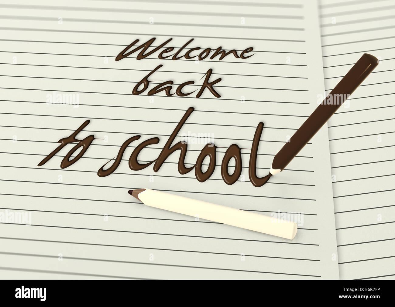 Willkommen zurück in der Schule geschrieben von Schokolade ...