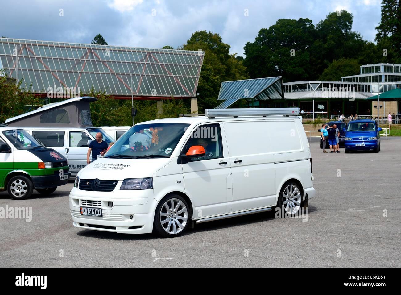 Volkswagen Transporter im National Motor Museum in Beaulieu, Hampshire. 17.08.2014 Stockbild