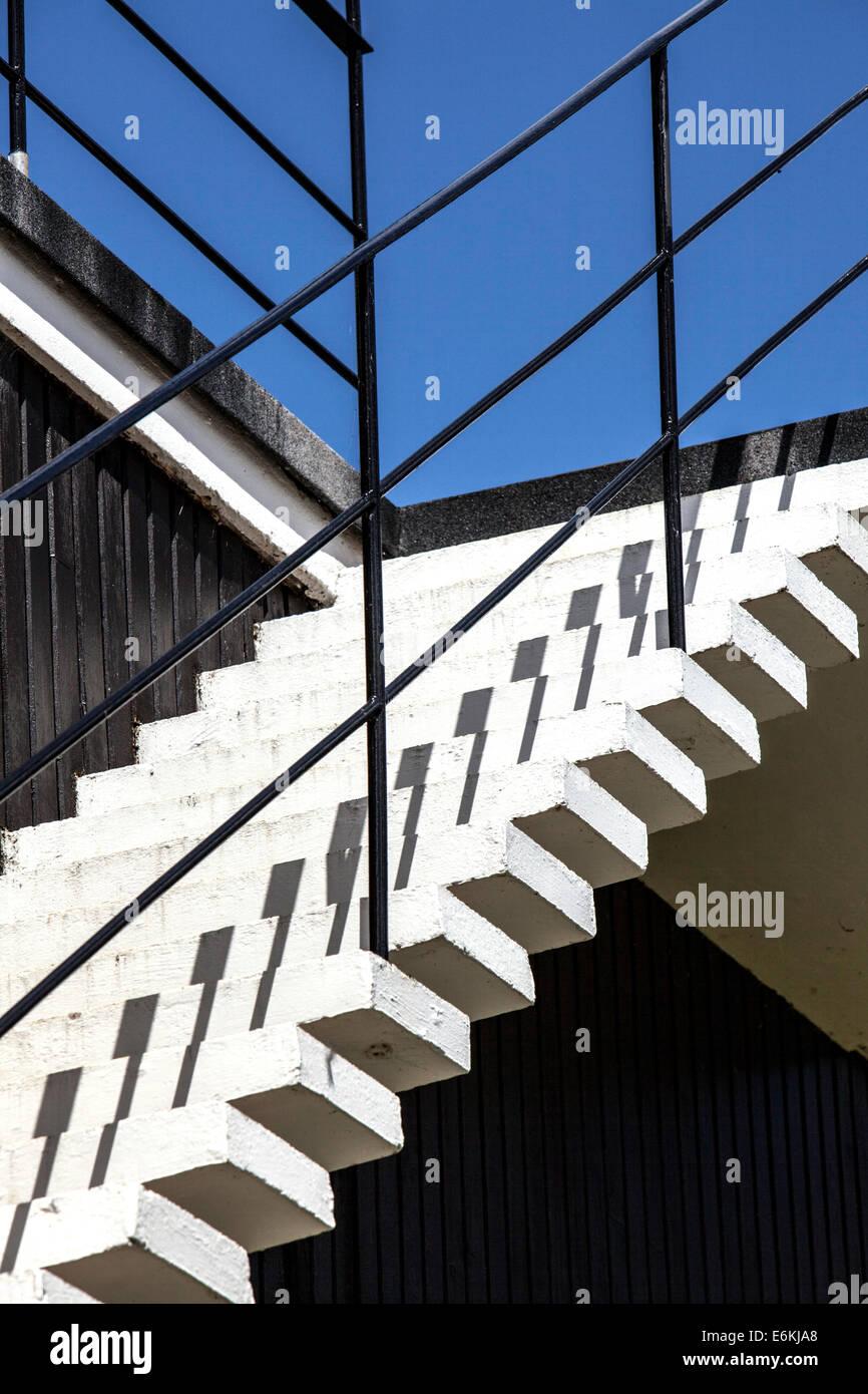 Art Deco Stil Externe Konkrete Aussentreppe Mit Metall Gelander