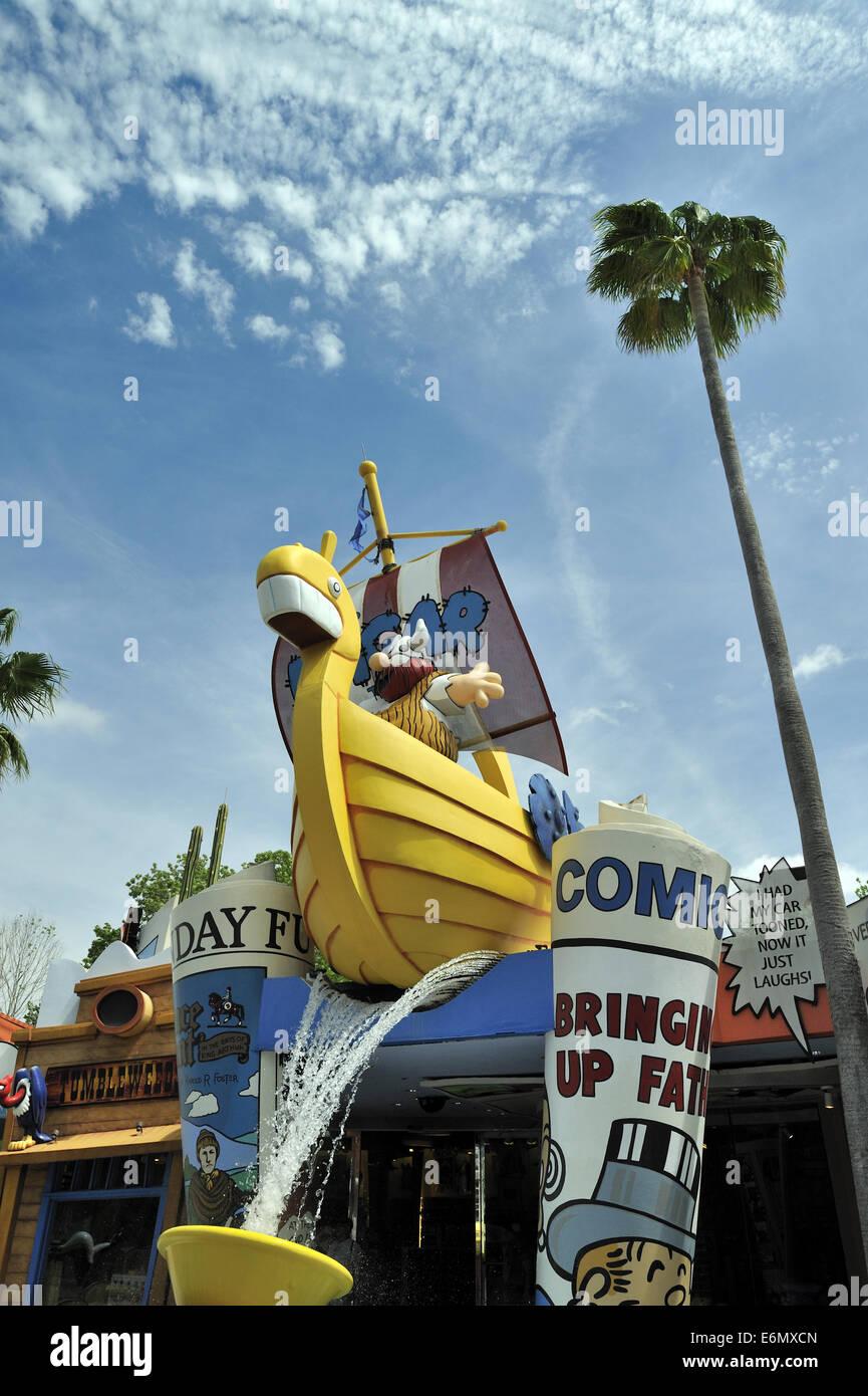 Hagar schrecklich, Universal Orlando Resort, Orlando, Florida, USA Stockbild