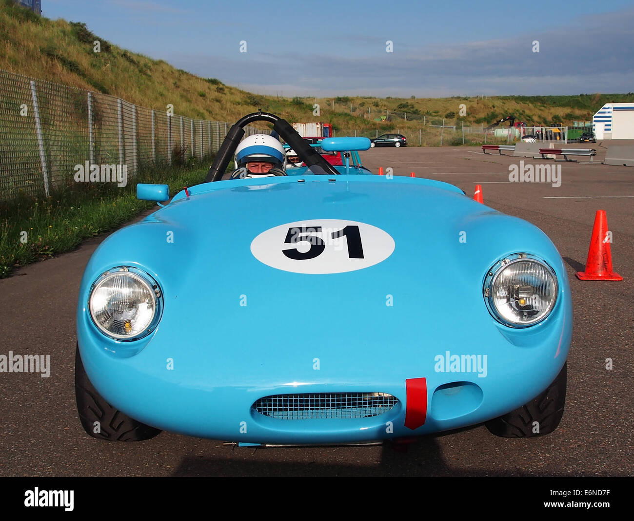 Austin Healey Sprite Monza - No52, Pieter Bakker in Zandvoort, pic1 Stockbild