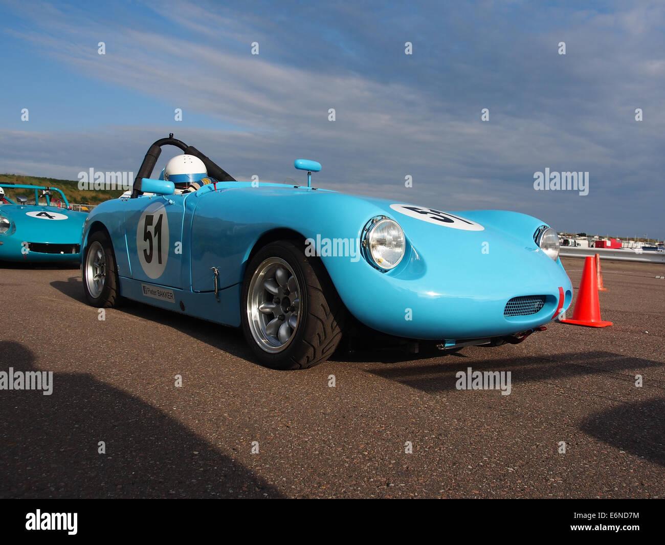 Austin Healey Sprite Monza - No52, Pieter Bakker in Zandvoort, pic5 Stockbild