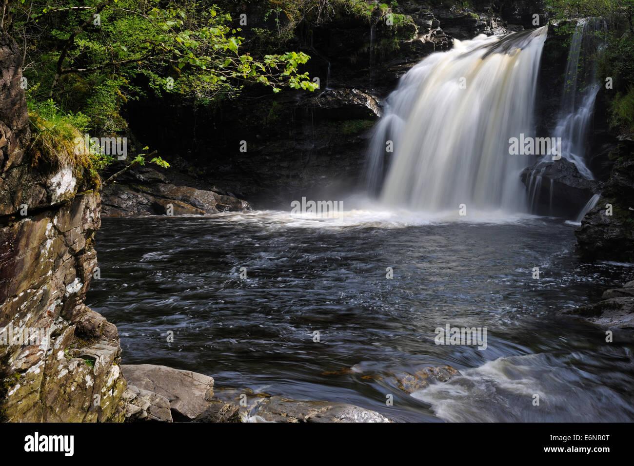 """Rob Roy Badewanne in """"Loch Lomond und Trossachs"""" National Park, Schottland, Großbritannien Stockbild"""