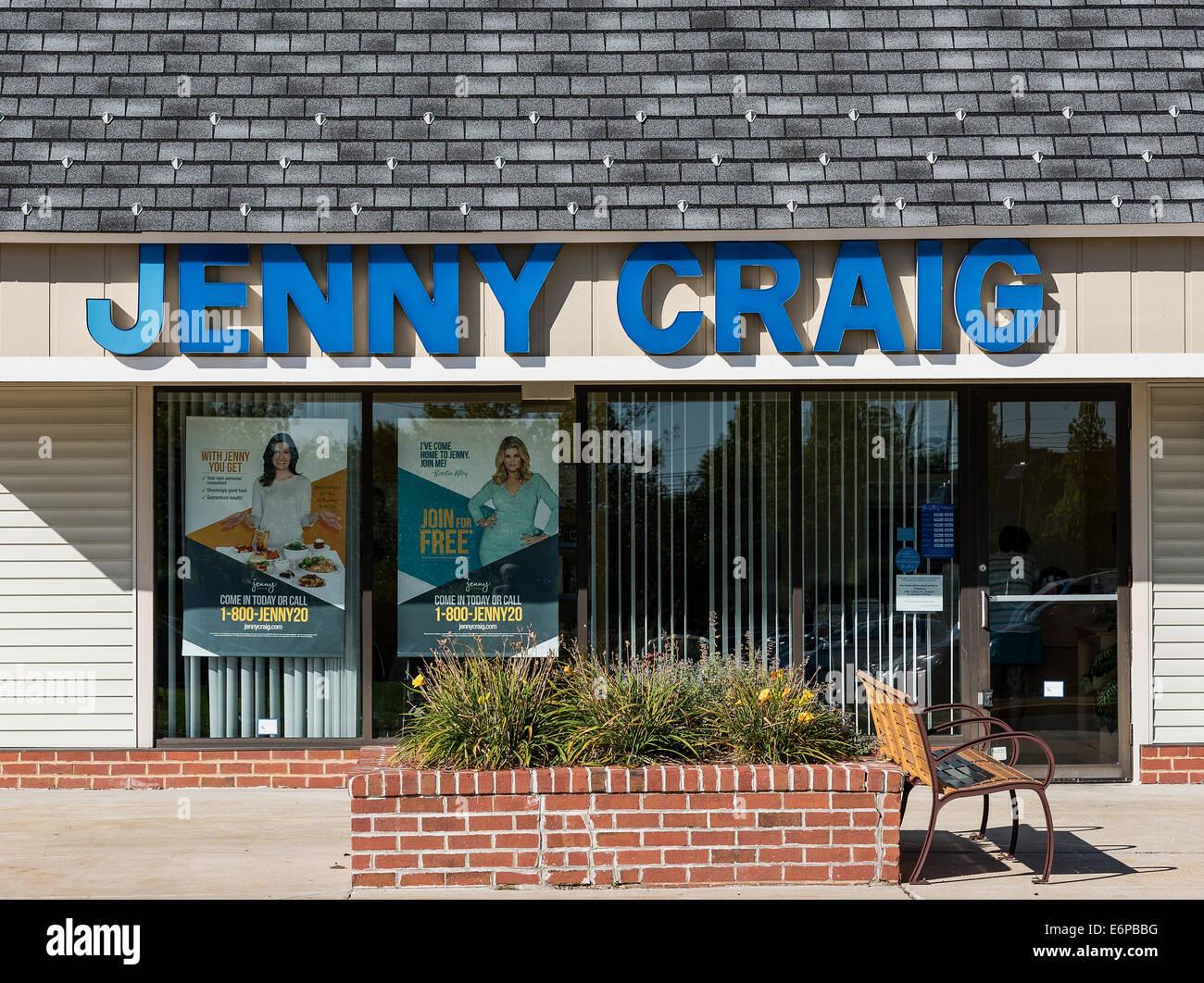 Jenny Craig Standort außen, Mt. Stinklorbeer, New Jersey, USA Stockbild