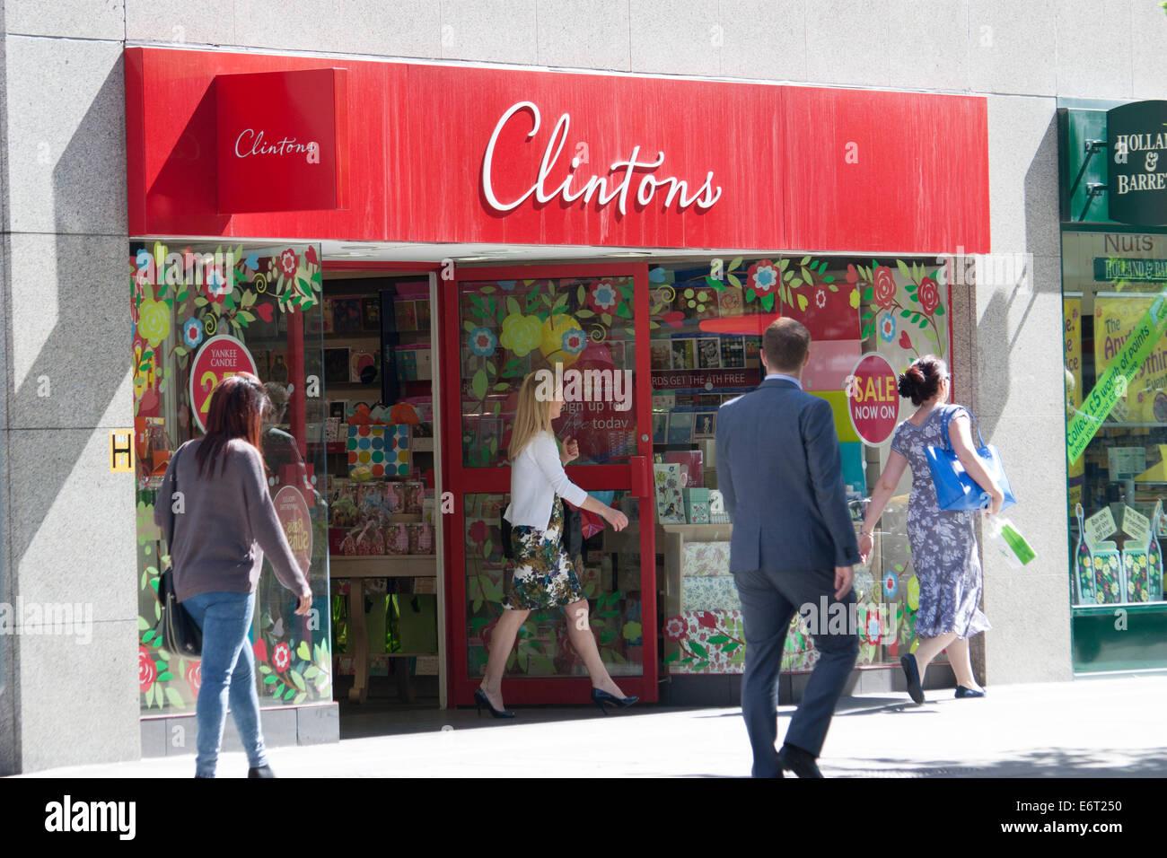 Clinton Karten, London UK Stockbild