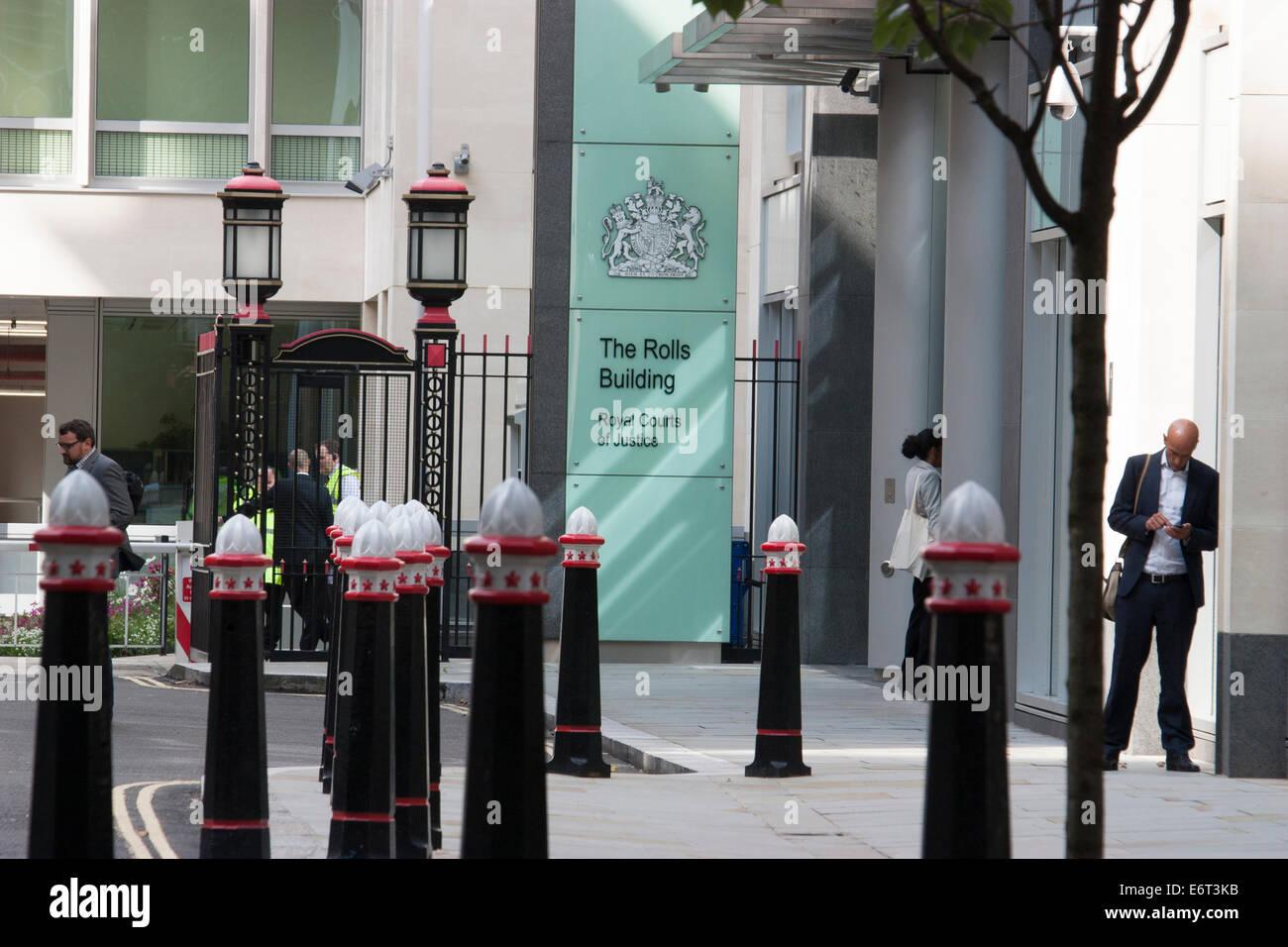 Die Rollen, die Gebäude, Königliche Gerichtshöfe, London Stockfoto