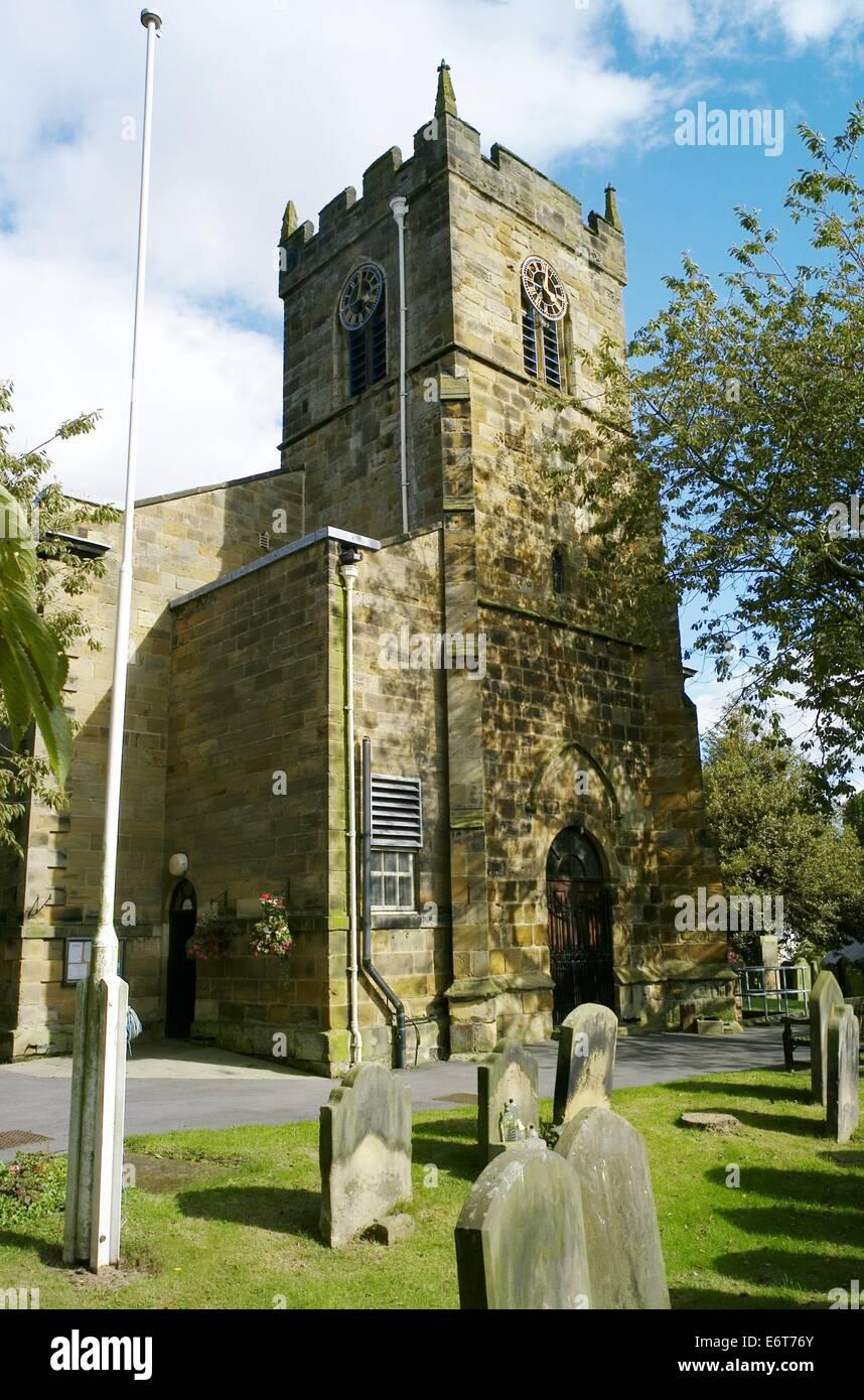 Saint Peter and Saint Paul Pfarrkirche Stokesley Stockbild