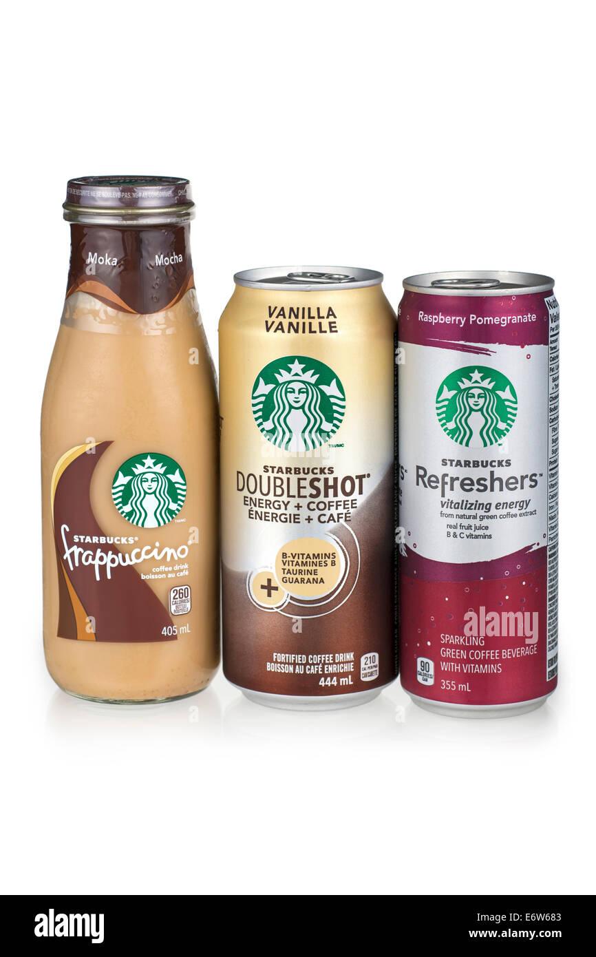 Starbucks Getränke gemischt Stockfoto, Bild: 73083139 - Alamy
