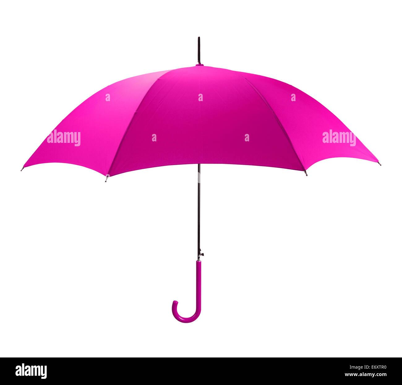 Hell rosa Regenschirm Seitenansicht, Isolated on White Background. Stockbild
