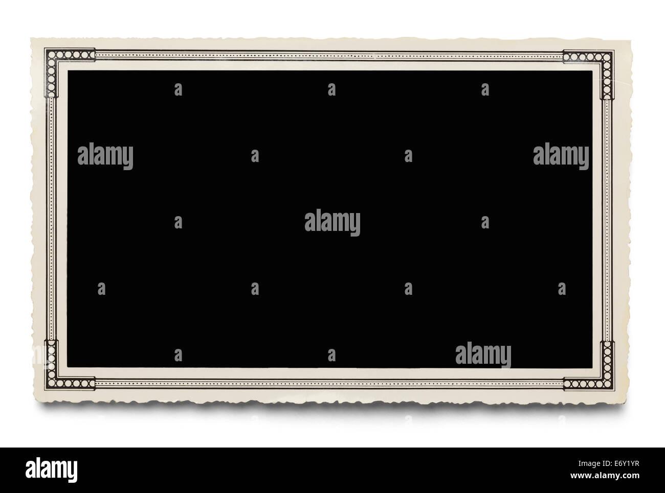 Alte leere Foto, Isolated on White Background. Stockbild