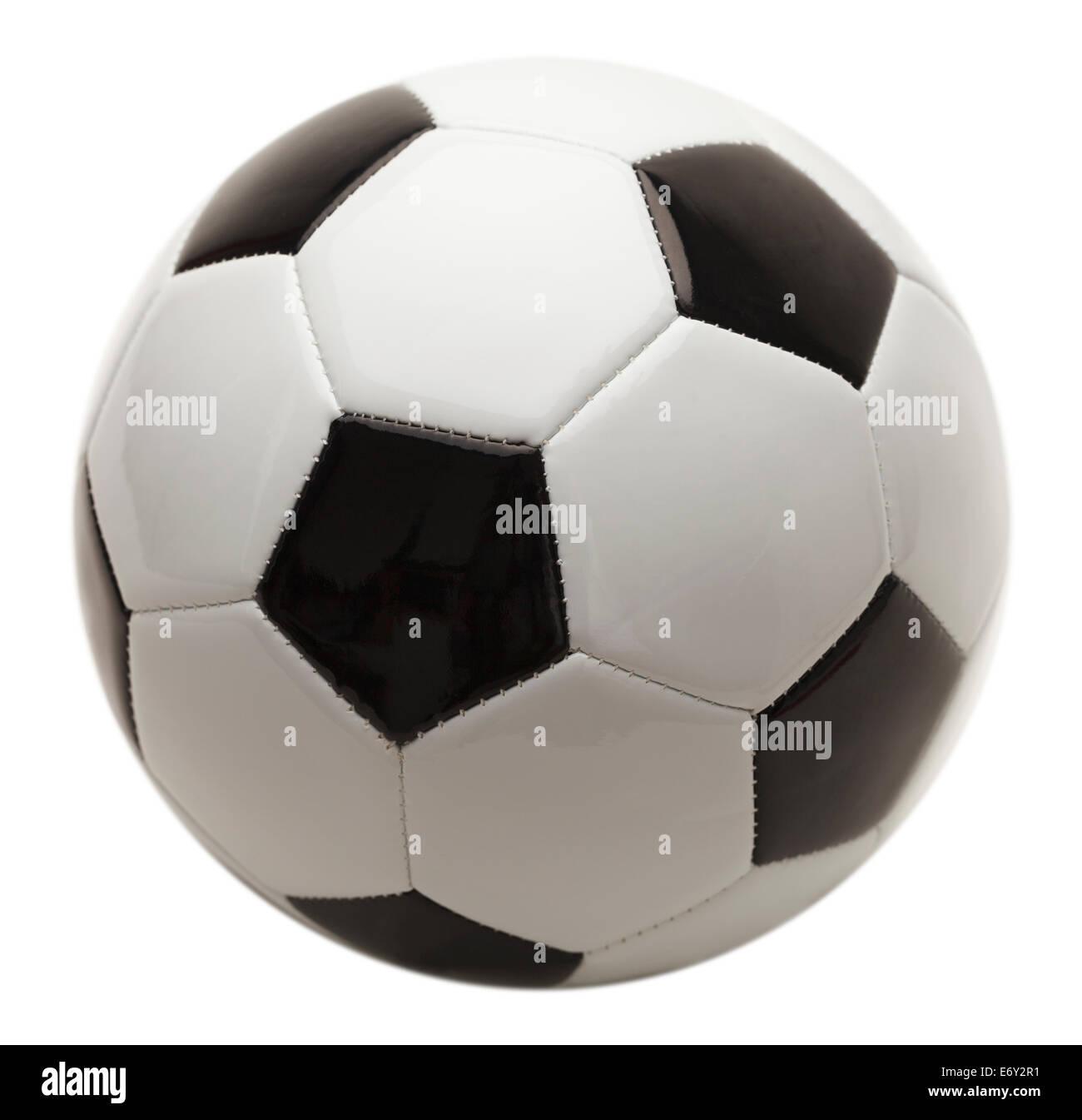 Schwarz / weiß-Fußball, Isolated on White Background. Stockbild