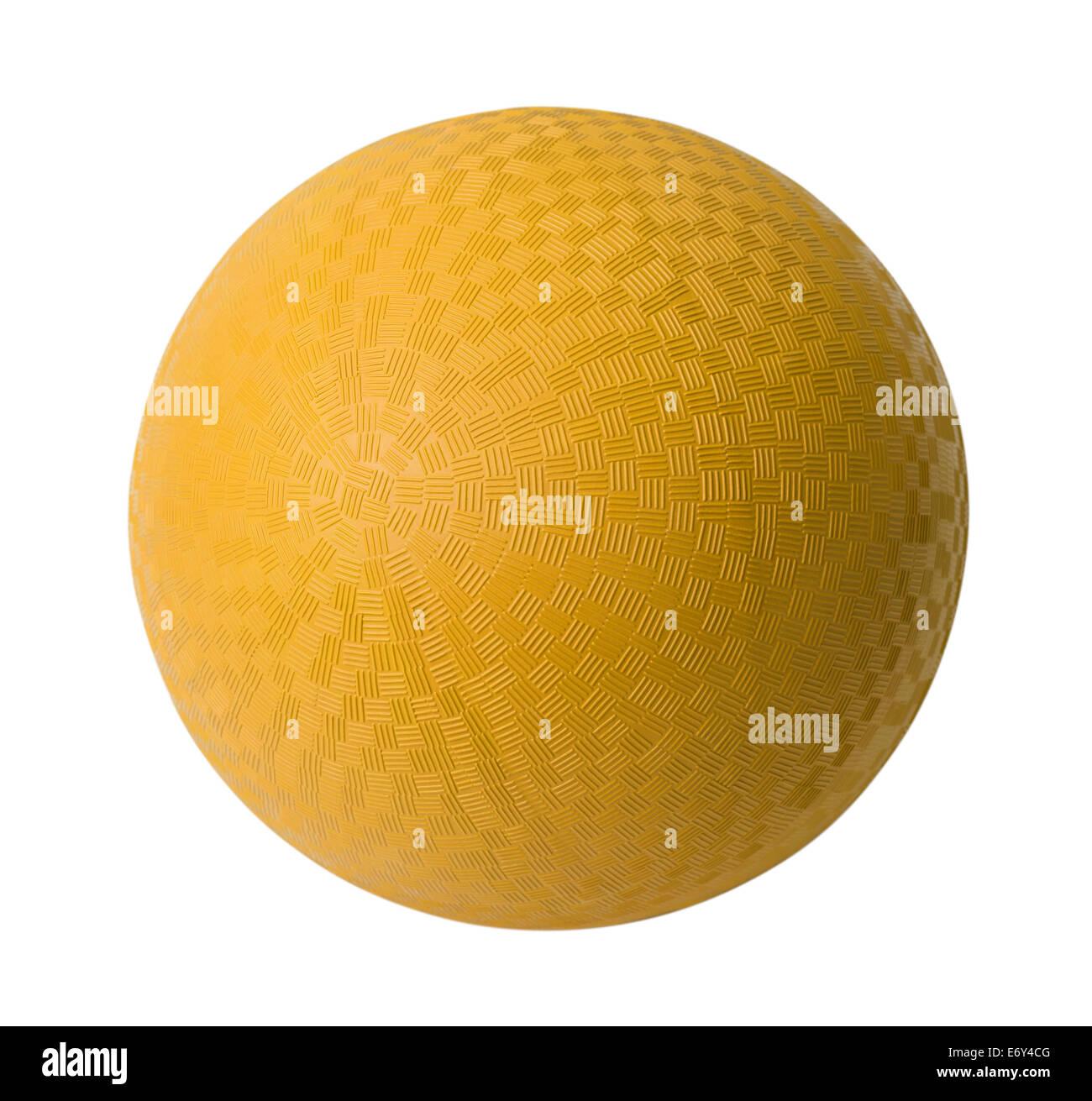Gelbe Gummiball, Isolated on White Background. Stockbild
