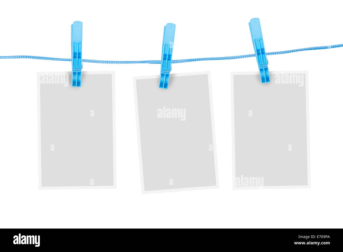 Leere weiße leere Papier Rahmen für Ihr Design, isoliert auf weißem ...