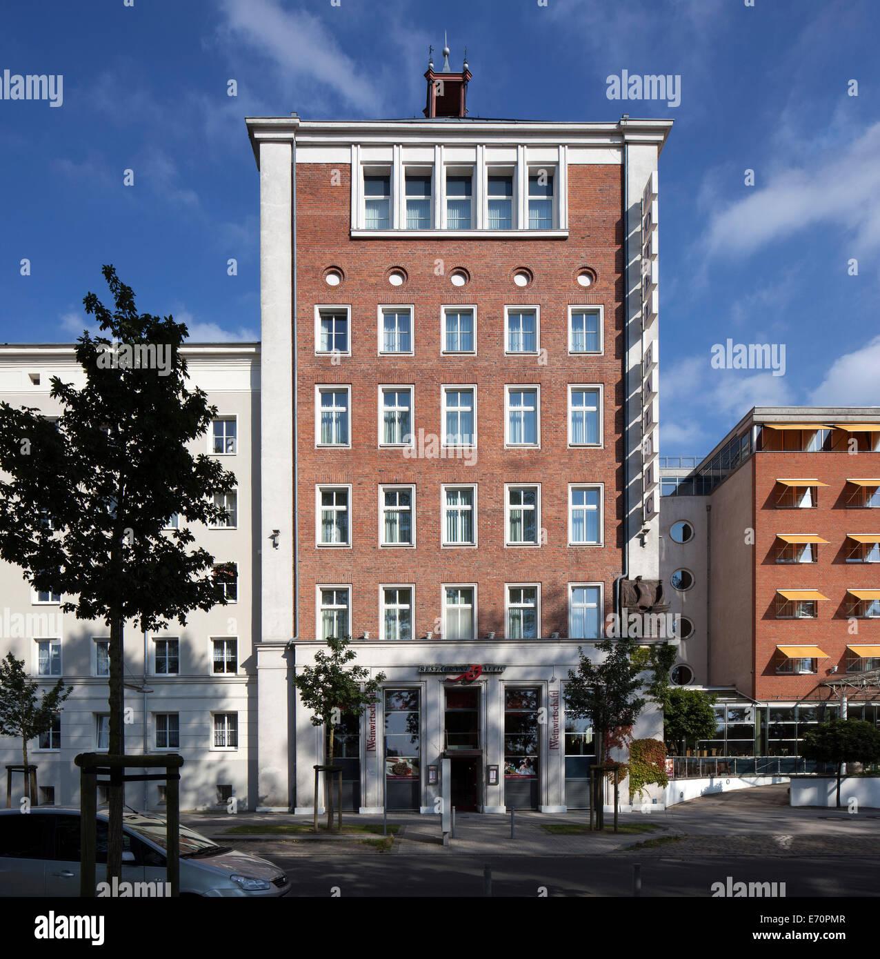 Arcona Hotel Baltic, im Stil der sozialistischen moderne, Stralsund, Mecklenburg-Western Pomerania, Deutschland Stockbild
