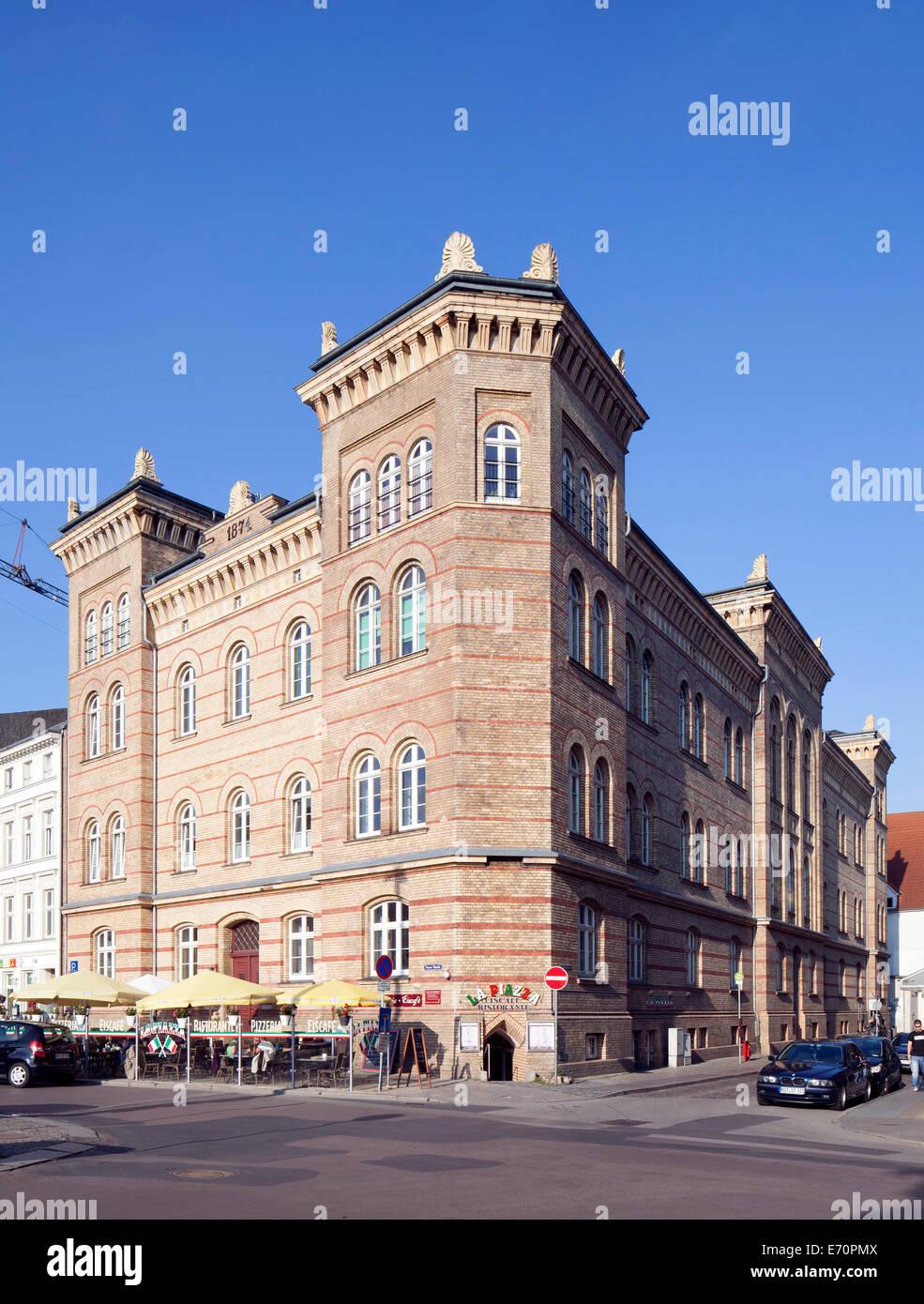 Altes Garnisonslazarett Krankenhaus, Stralsund, Mecklenburg-Western Pomerania, Deutschland Stockbild