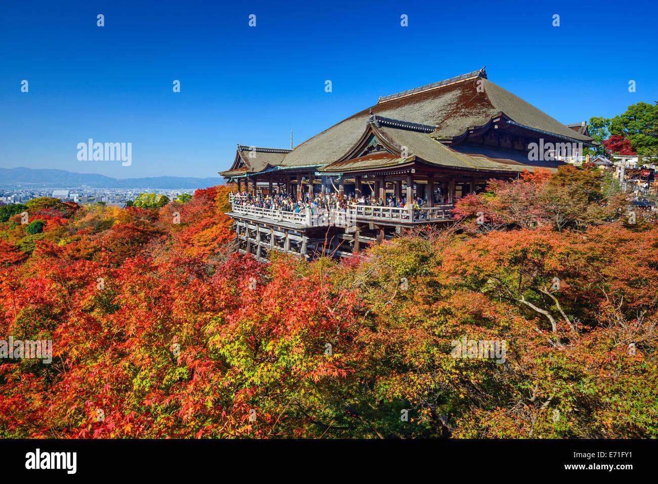 Kyoto, Japan Kiyomizudera Tempel in der Herbstsaison. Stockbild