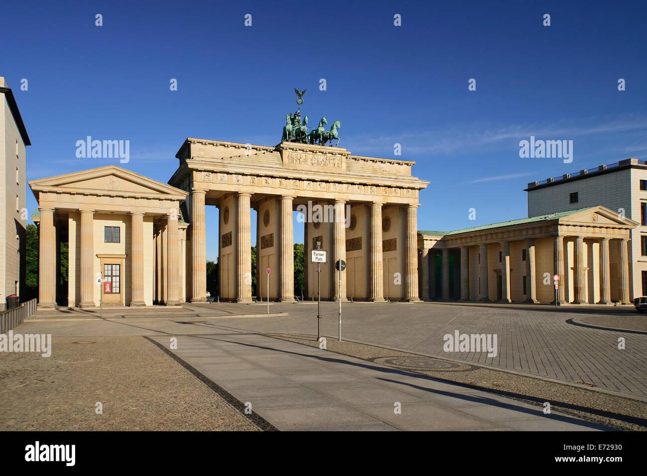 Deutschland, Berlin, Brandenburger Tor auf der Ostseite. Stockfoto