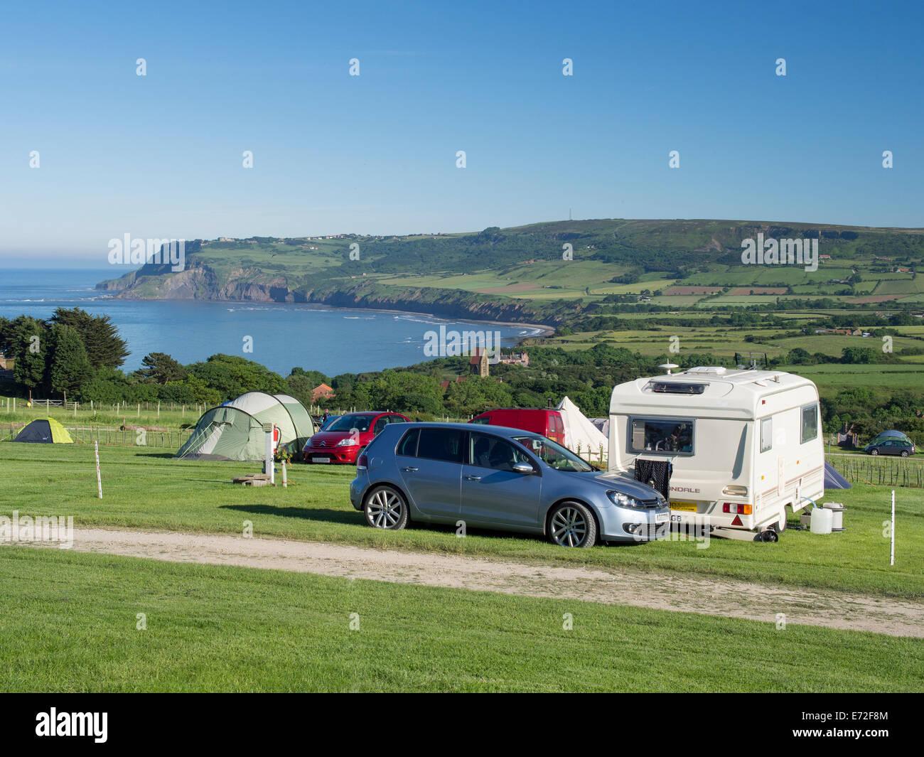 Caravan Und Camping Auf Dem Bauernhof Haken Bei Robin Hoods Bay In