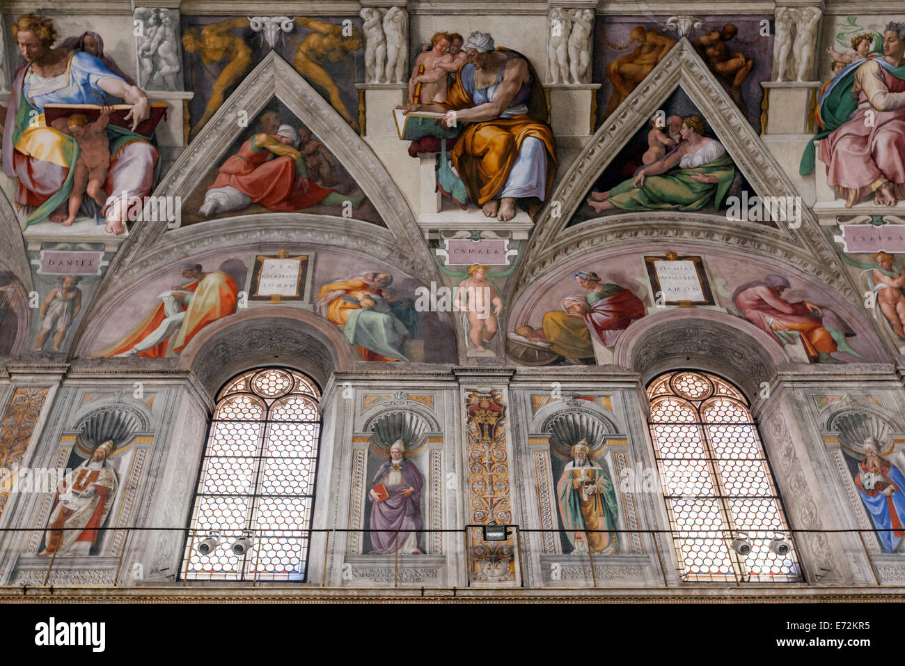 michelangelo fresco stockfotos michelangelo fresco bilder alamy. Black Bedroom Furniture Sets. Home Design Ideas
