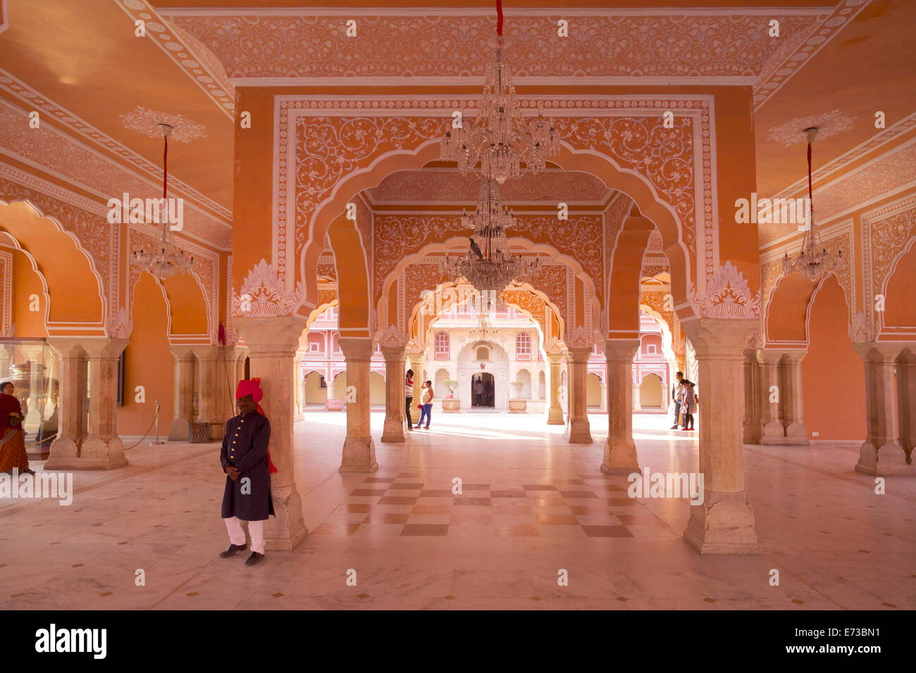 Halle für öffentliche Publikum (Diwan-e-Khas), Stadtschloss, Jaipur, Rajasthan, Indien, Asien Stockbild