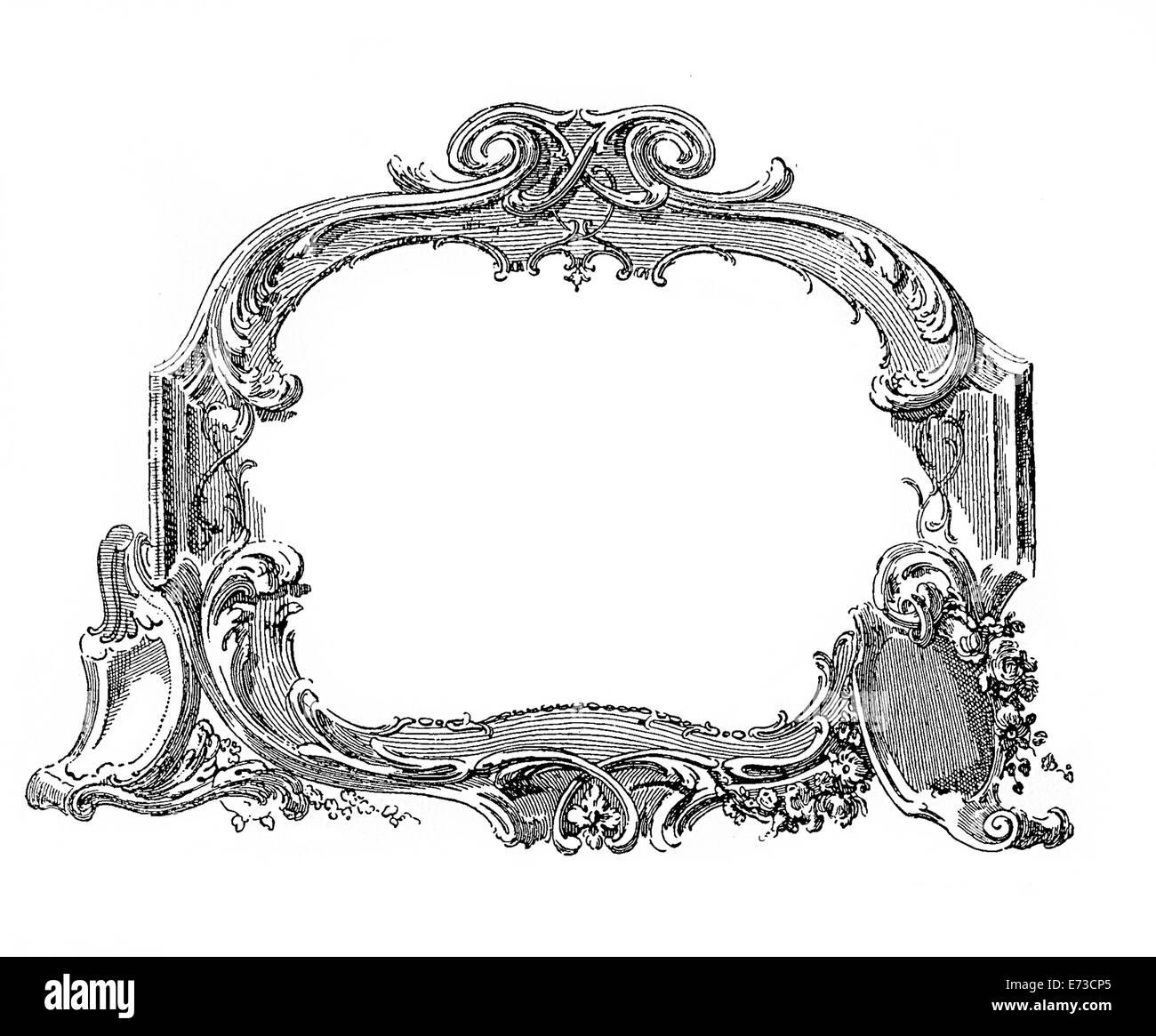 Renaissance Ornamentrahmen mit floralen Elementen Stockfoto, Bild ...