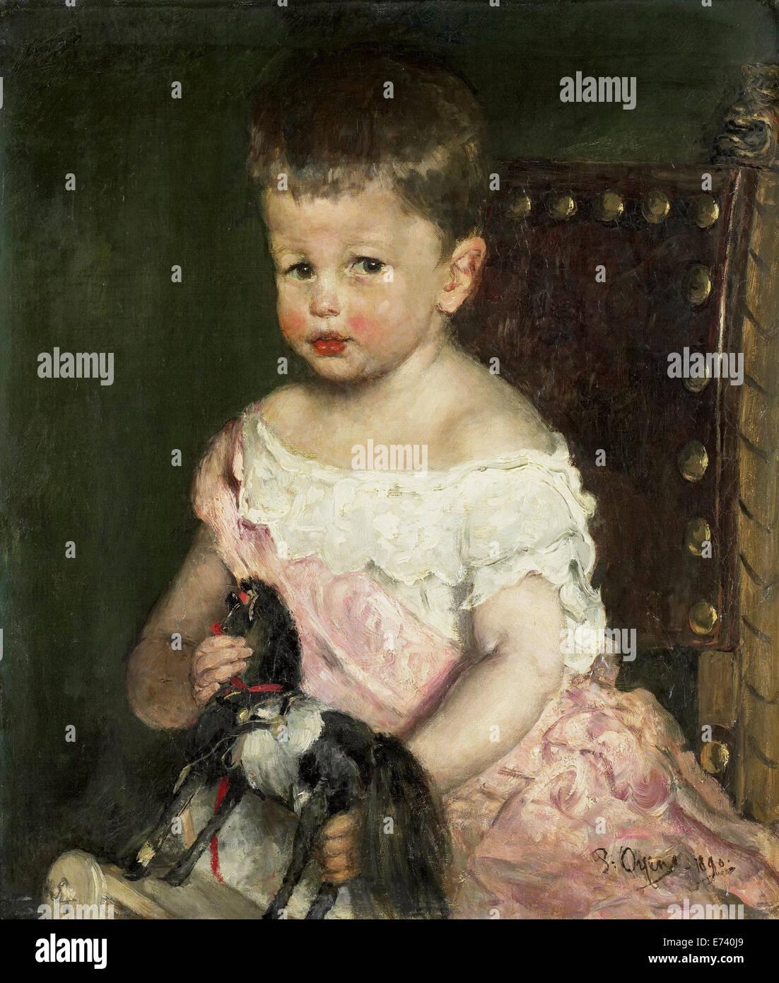 Henry Waller im Alter von drei - von Pieter Oyens, 1890 Stockbild