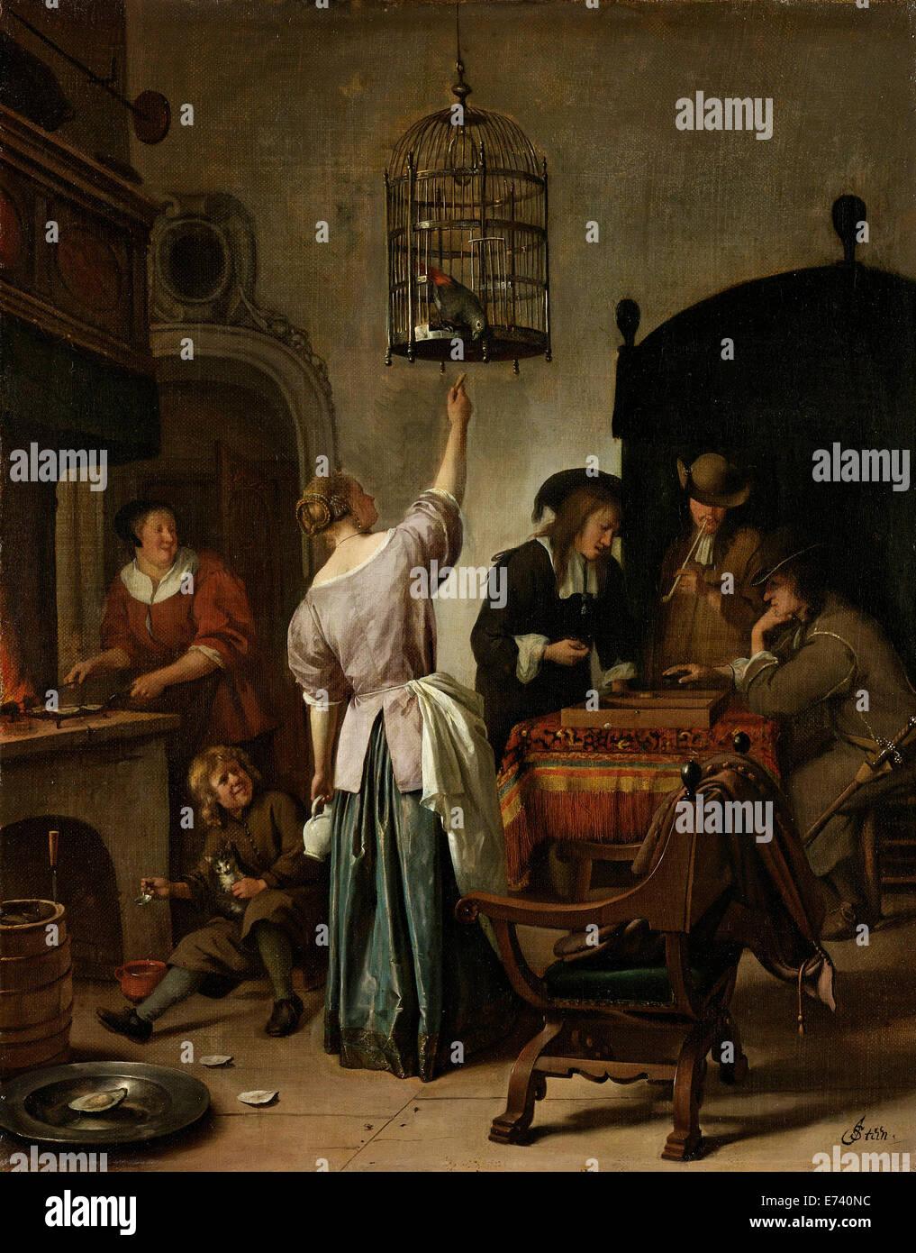 Painting by jan steen stockfotos painting by jan steen for Interieur niederlande