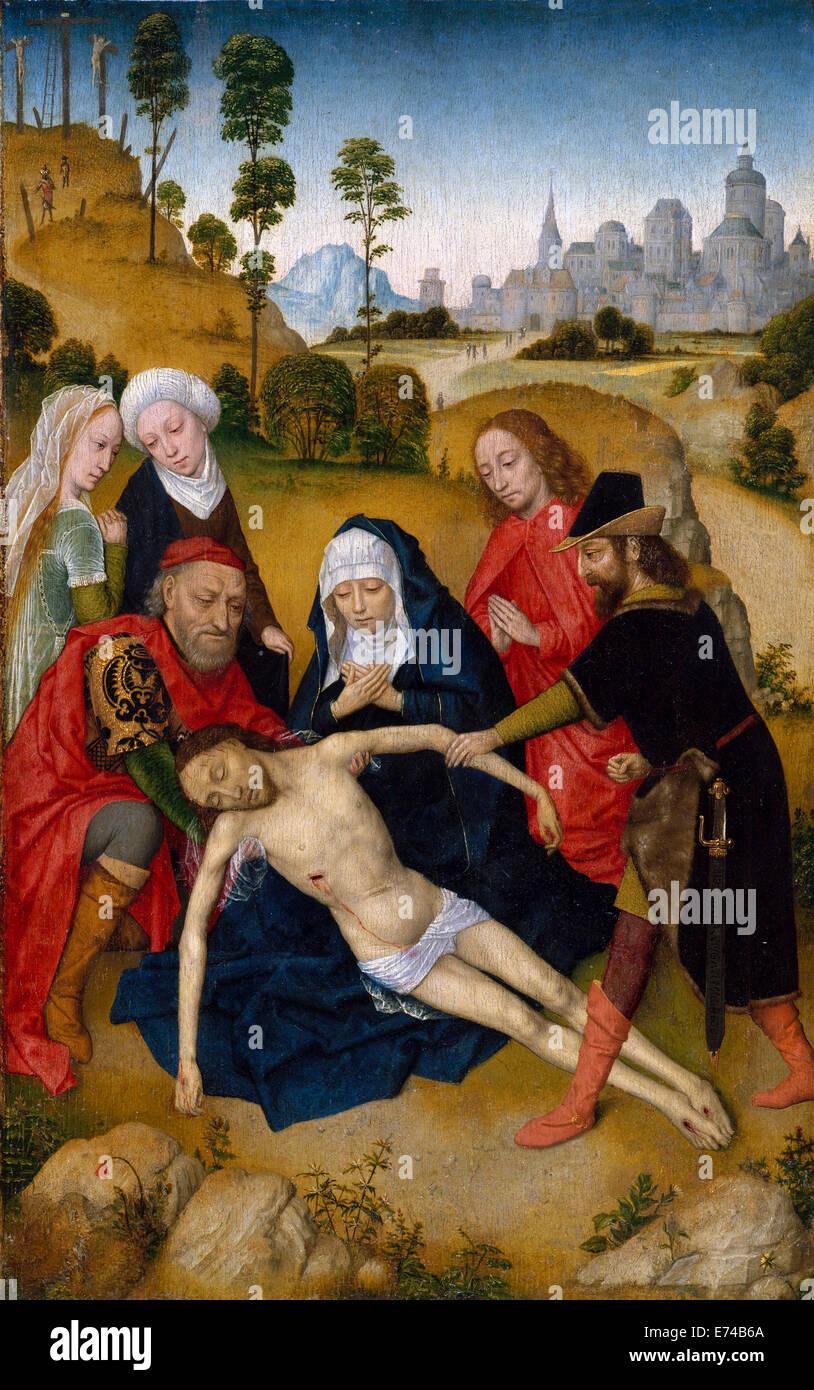 Die Beweinung Christi - von Simon Marmion, 1467 Stockbild