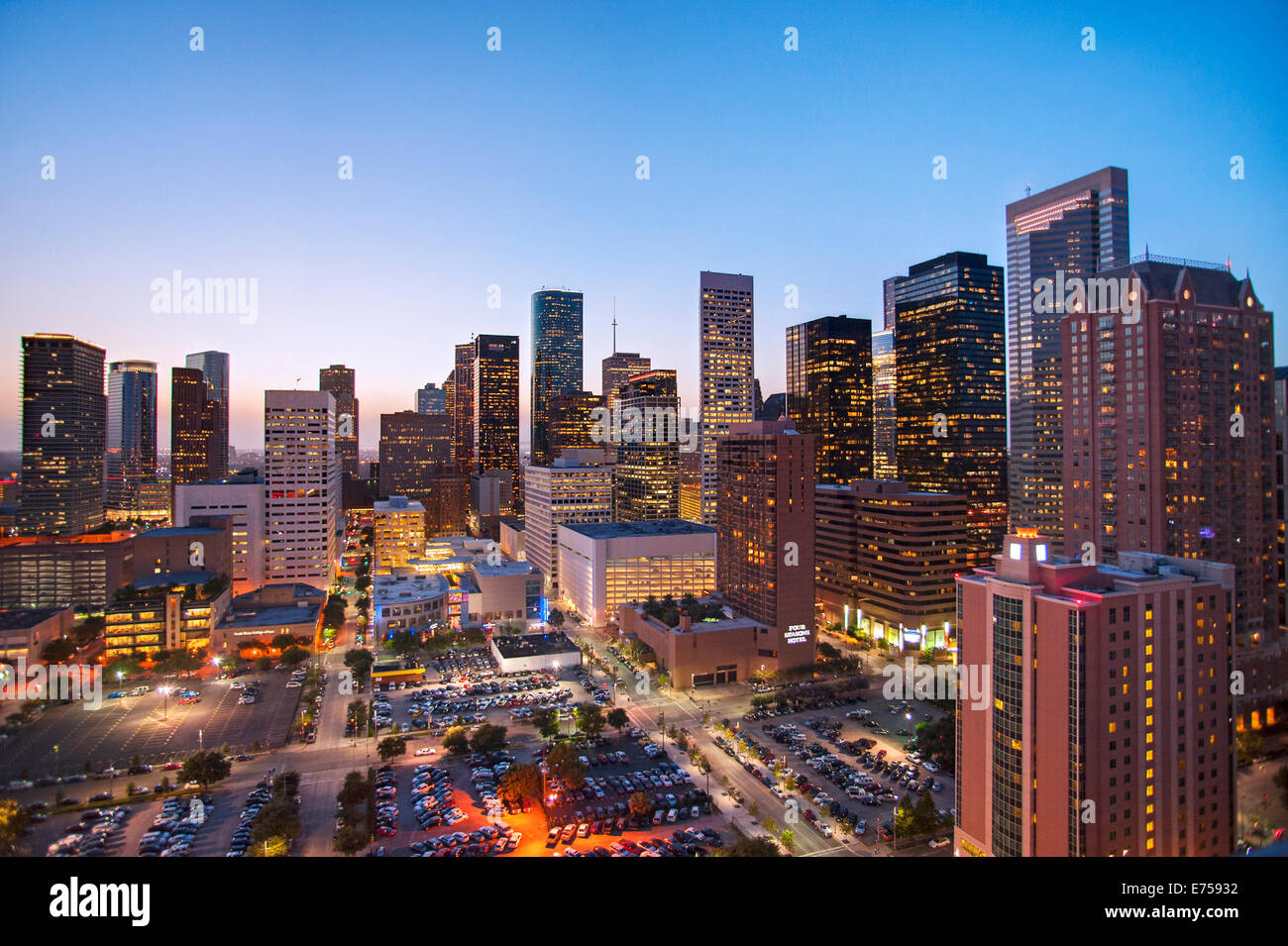 Skyline von Houston, Texas Stockbild