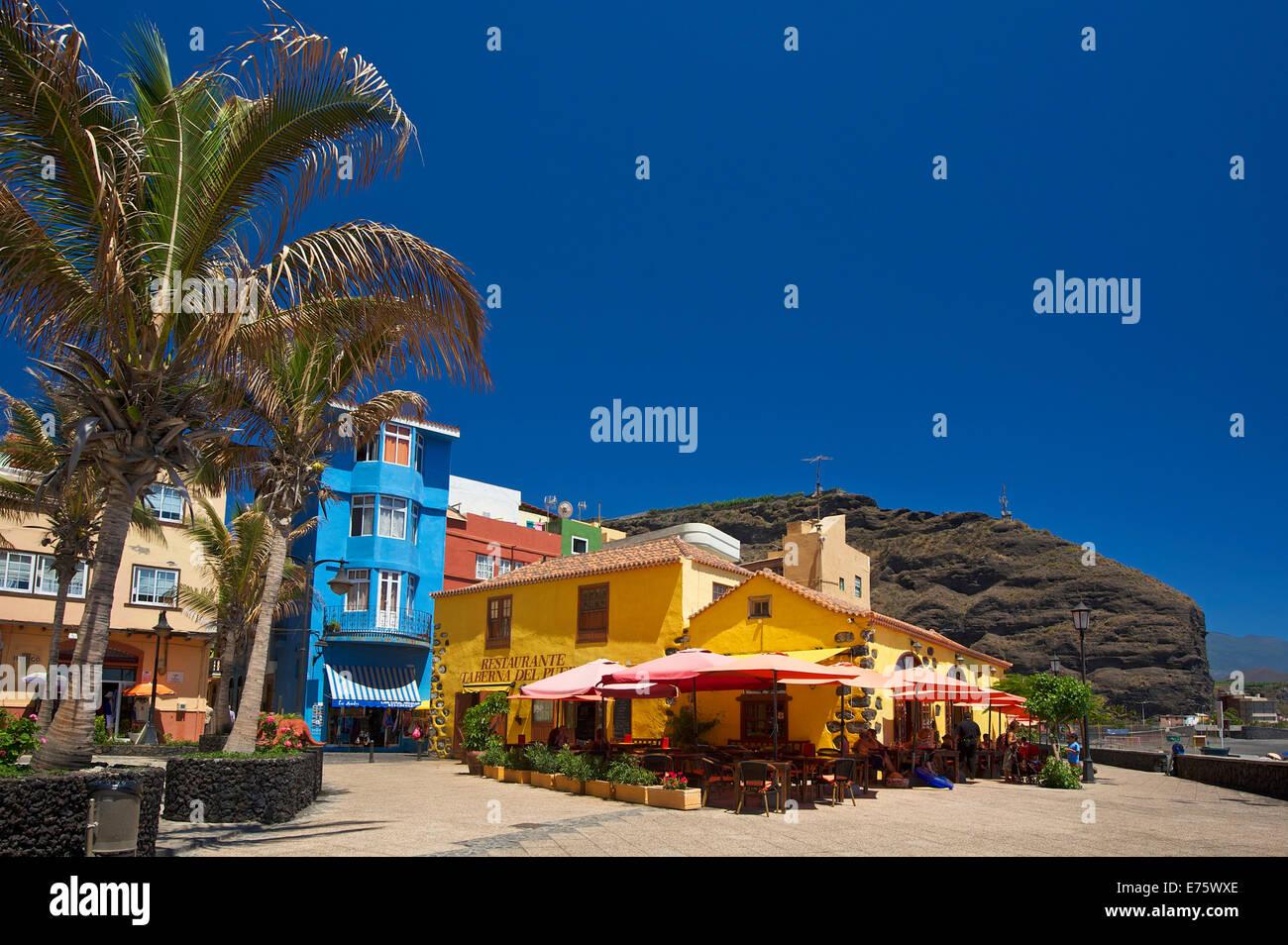 Taberna del Puerto, Puerto de Tazacorte, La Palma, Kanarische Inseln, Spanien Stockbild