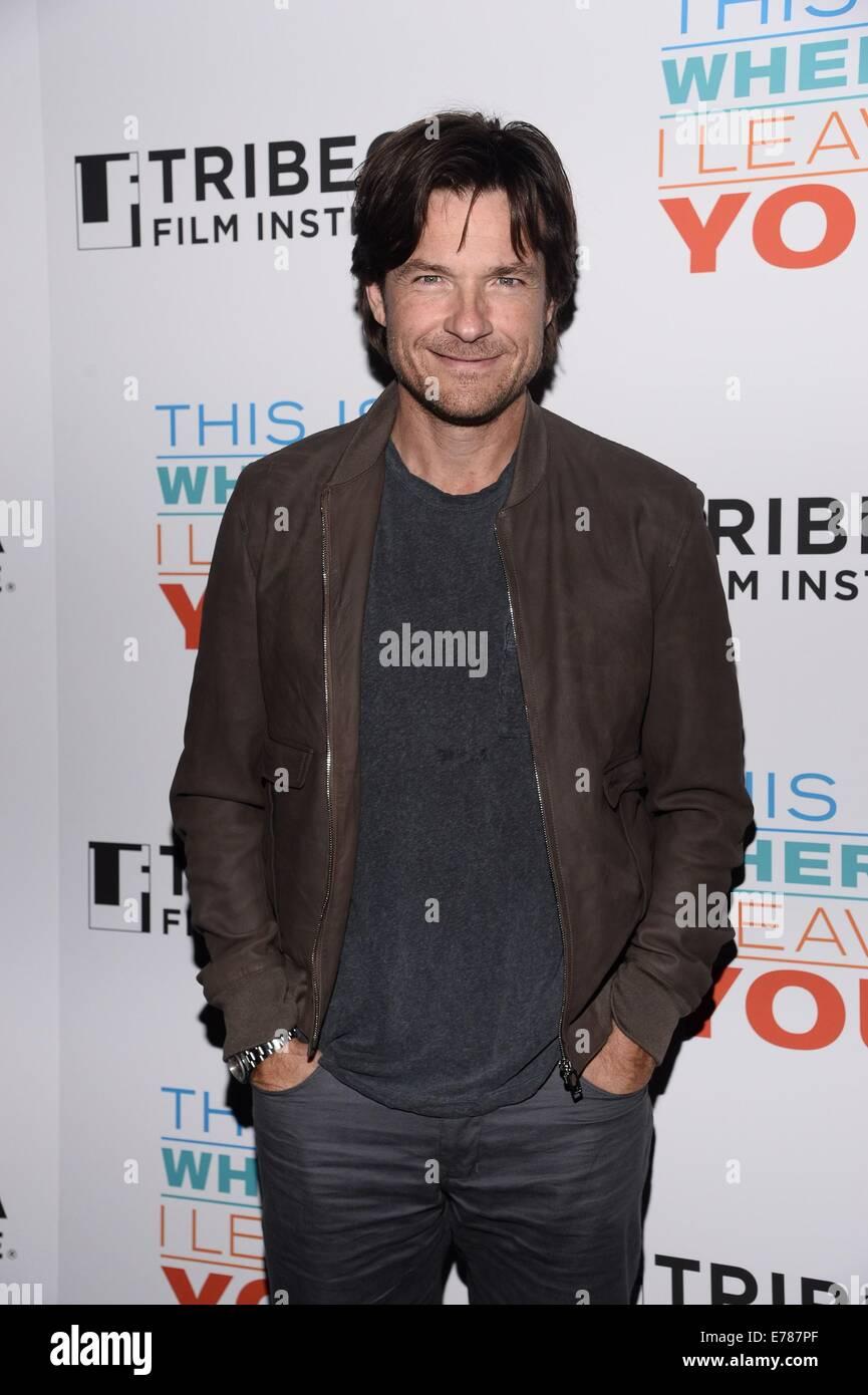 New York, NY, USA. 8. Sep, 2014. Jason Bateman im Ankunftsbereich für Tribeca Film Institute jährlich Stockbild