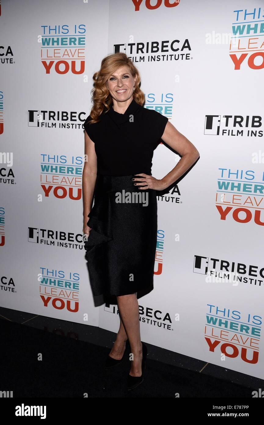 New York, NY, USA. 8. Sep, 2014. Connie Britton im Ankunftsbereich für Tribeca Film Institute jährlich Stockbild