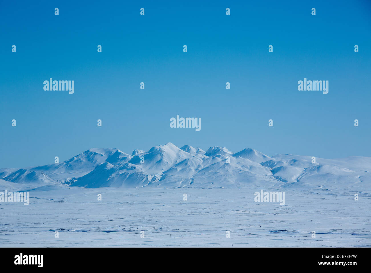 auf dem Gletscher Langjökull, Island Stockbild