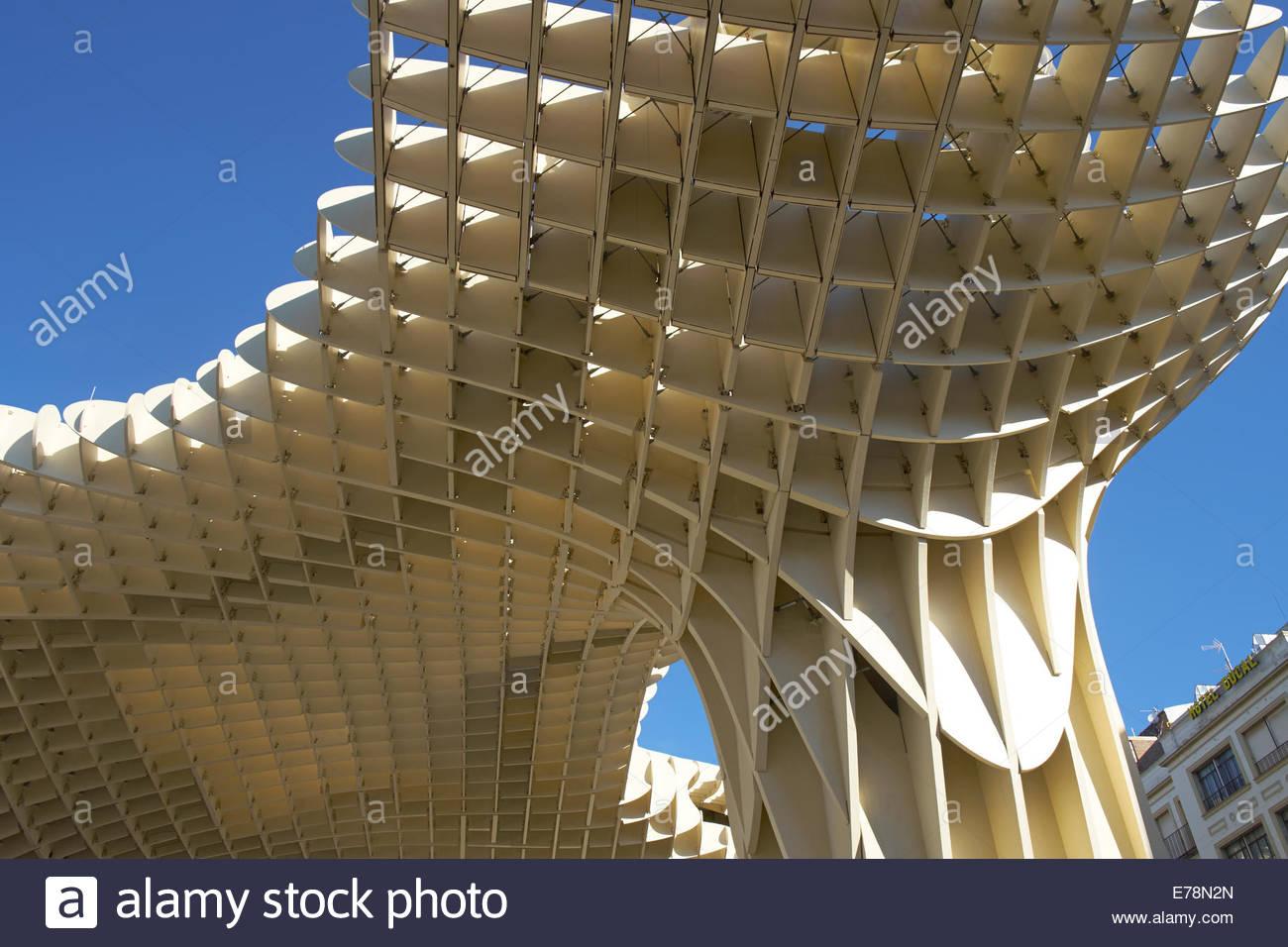 Las Setas oder Métropole Parasol Sevilla, Sevilla Stockbild