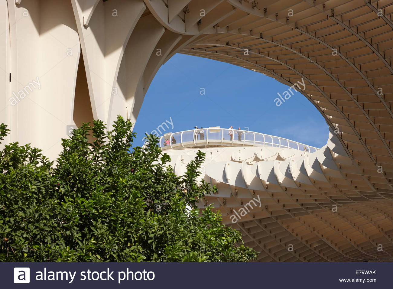 Gehwege Las Setas oder Métropole Parasol Sevilla, Sevilla Stockbild