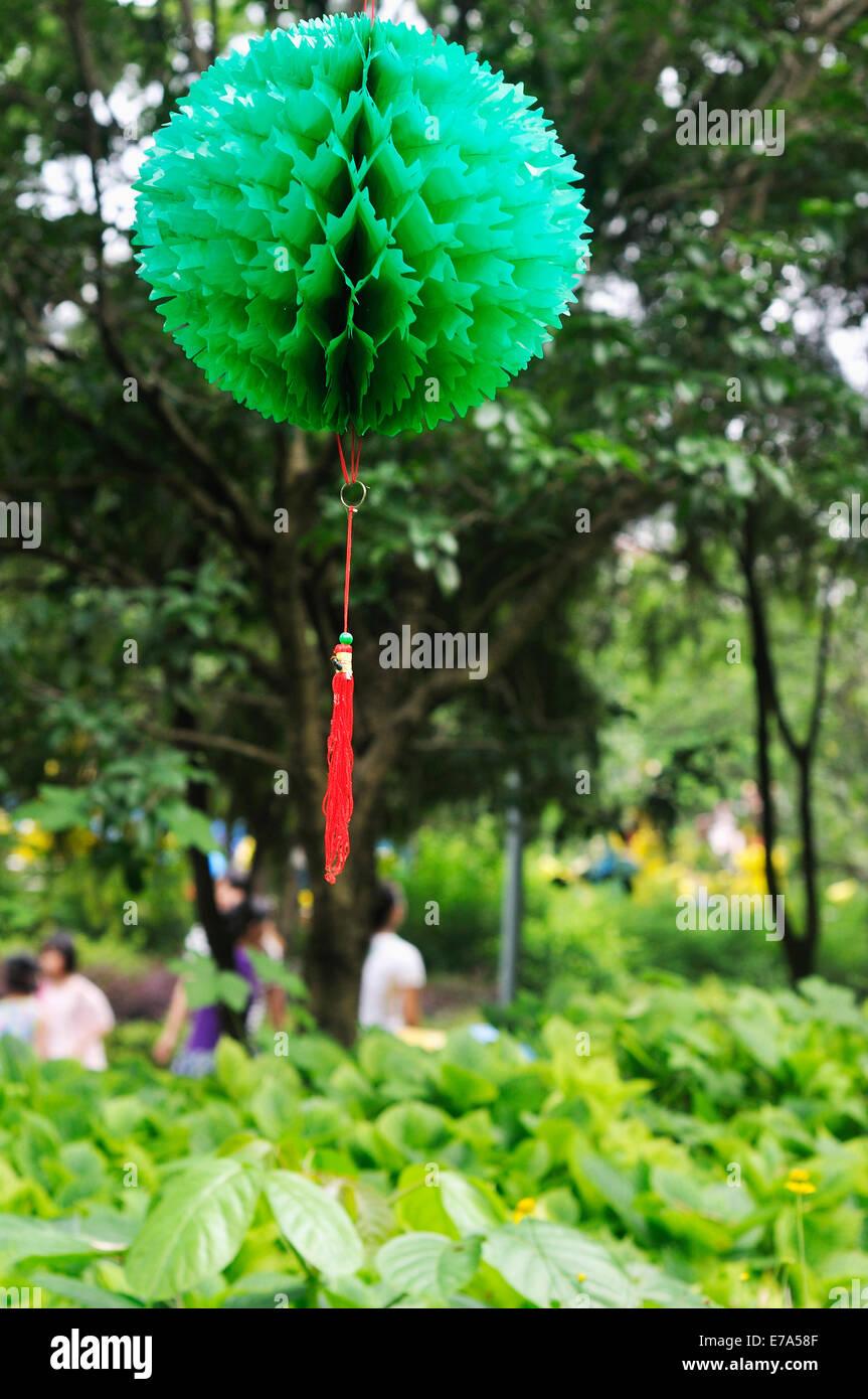 Origami Papier Blumen Kugel Stockbild