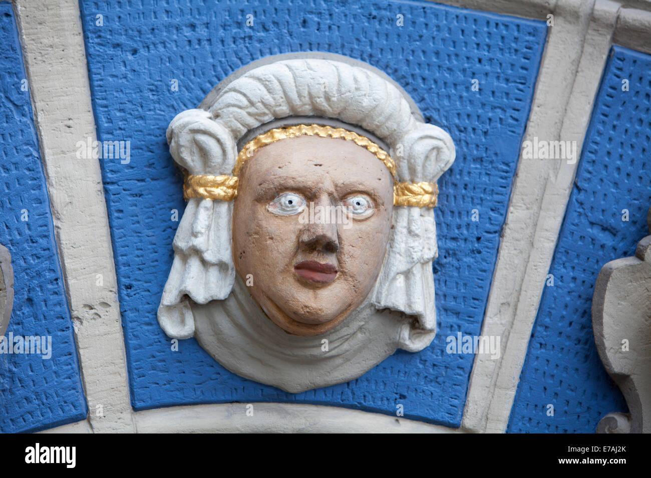 Renaissance-Portal, Gewandhaus, Altstadt Marktplatz, Brunswick, Niedersachsen, Deutschland, Europa, Stockbild